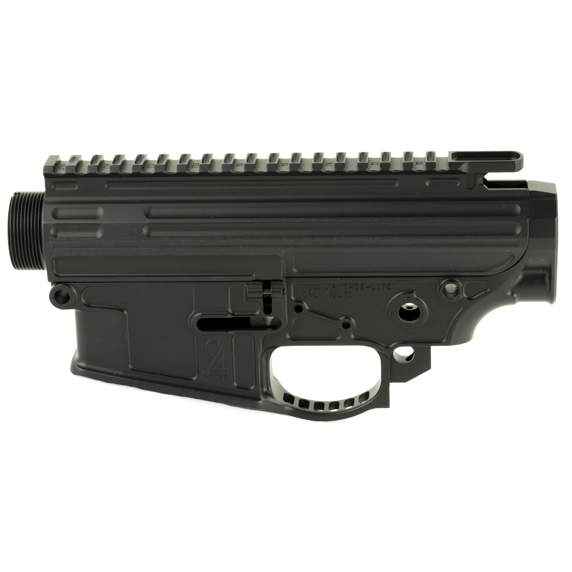 "The XANTHOS-lite was developed to give the end user a lightweight solution for the popular ""large frame"" 308 (LR308/SR-25) pattern of firearms. The XANTHOS-lite is geared towards the user who want's quality material"" design"" and functionality in a large frame build. The XANTHOS-lite shares the common DPMS HIGH standard for rail height"" and will accept most accessories on the market."