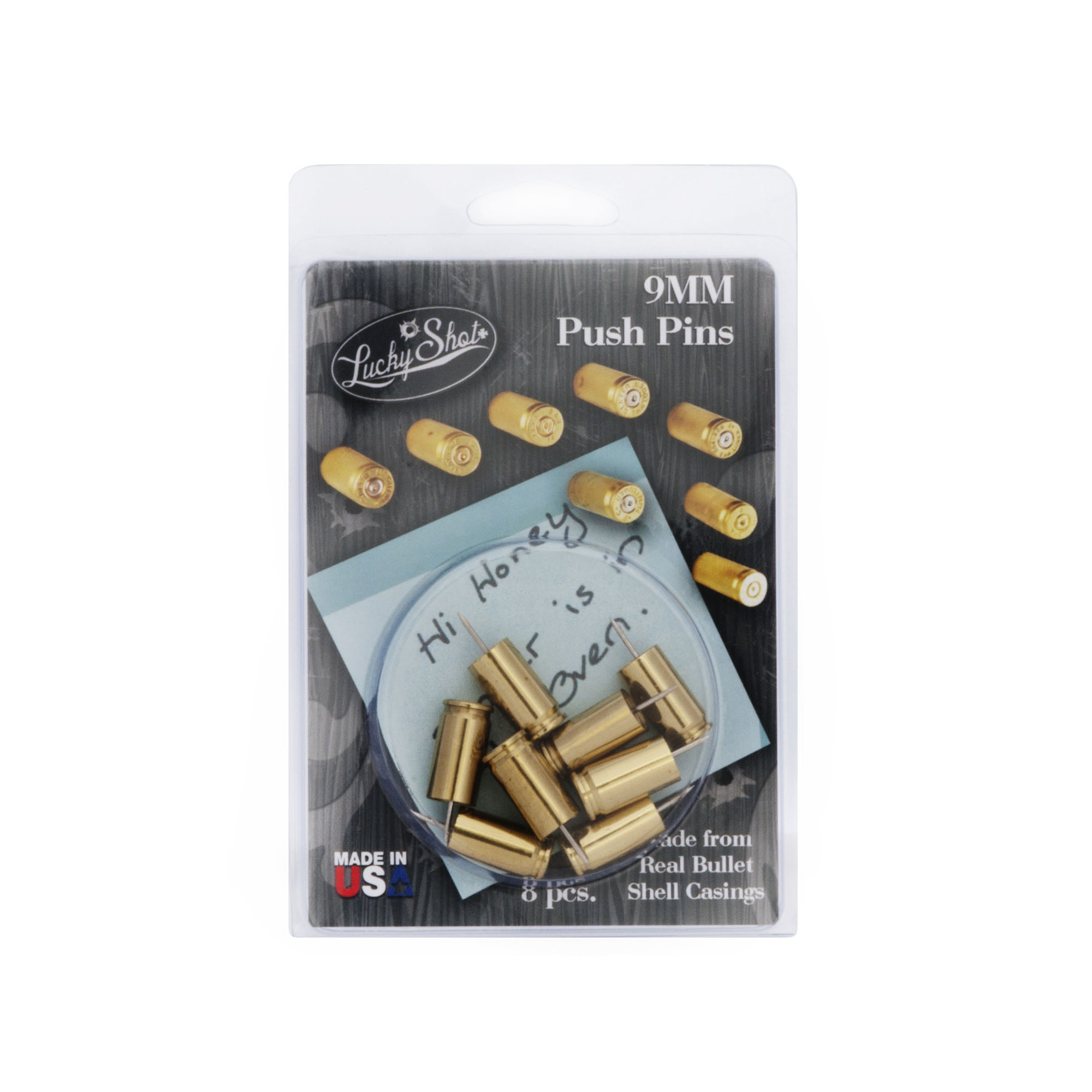 2 Monkey Trading 9mm Push Pin 8/Pack – Brass