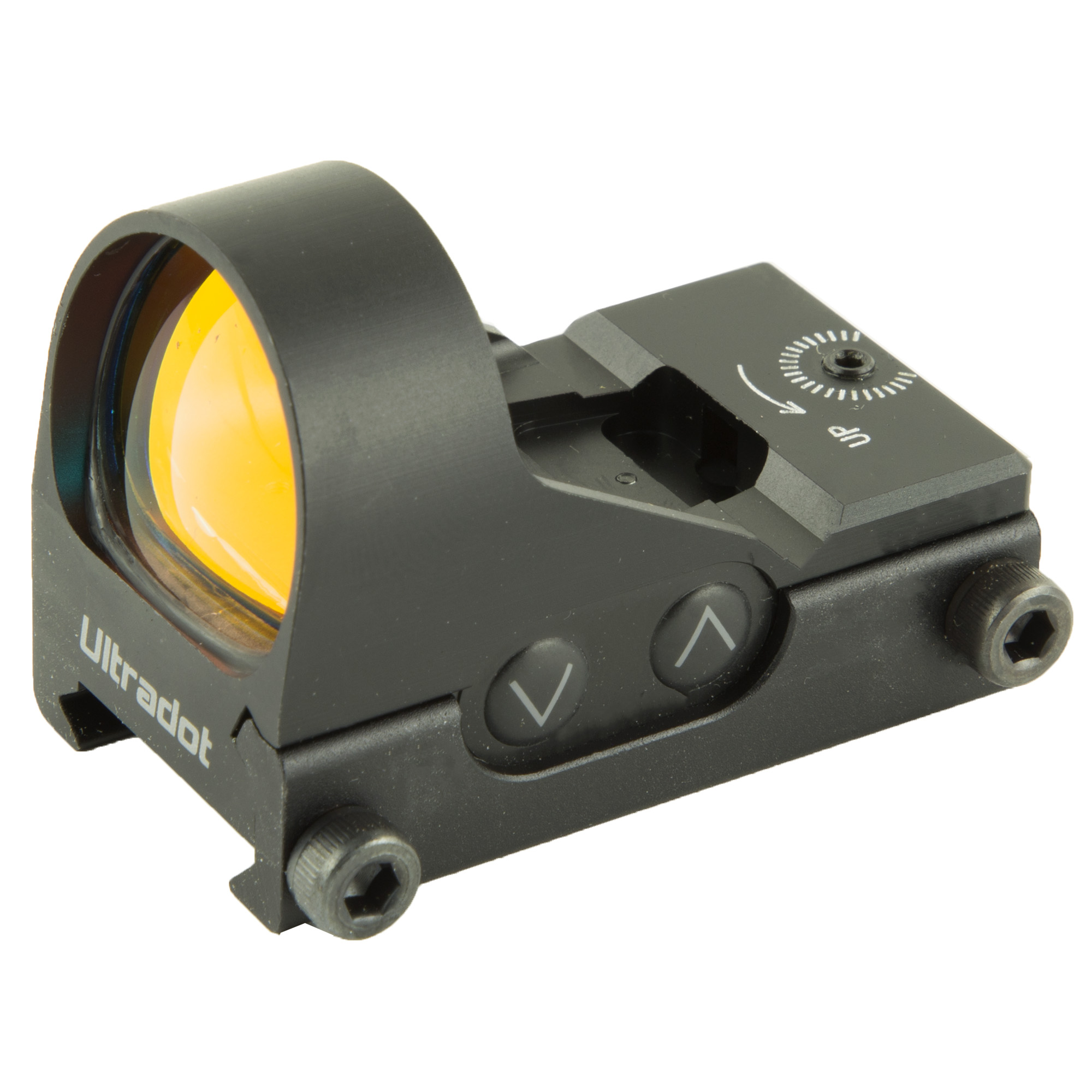 """The Ultradot L/T has always been a high performance compact sight"""" but Ultradot felt it could be even better. So they've redesigned it with features you've asked for and the results are outstanding. Auto-off"""" push button brightness adjustment"""" brightness memory"""" precise 4 MOA dot size"""" increased weather resistance"""" detents and indicators for windage and elevation adjustments (eliminate the need for dial disk) and a built in rail clamp system. Don't let its small size fool you...this is one tough sight and is back by Ultradot's Limited Lifetime Warranty."""