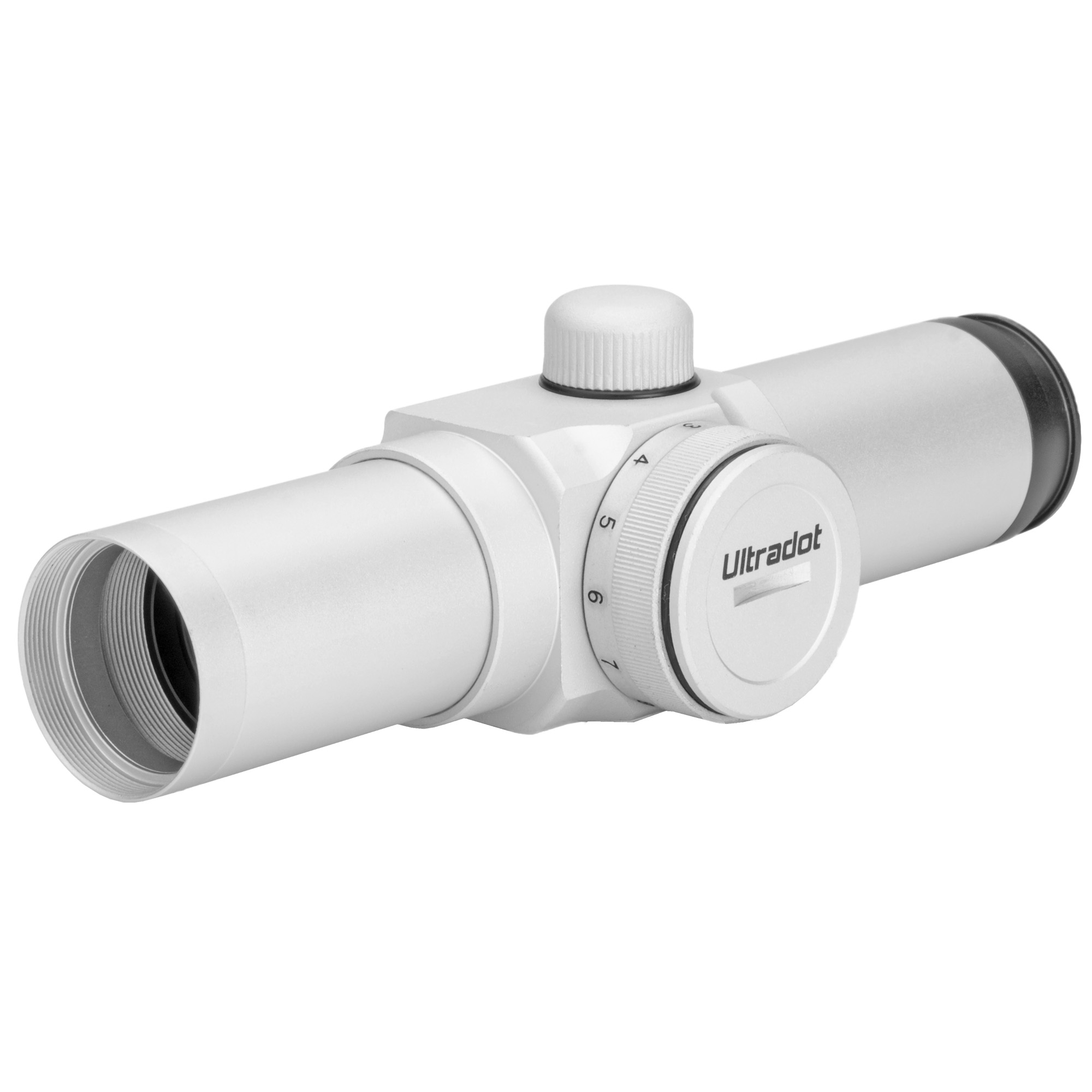 """The UltraDot is the most compact"""" lightweight and streamlined sight on the market. Only 5.1 inches long and weighs just 3.9 oz. Built with 25mm diameter tube. Click adjustable brightness control."""