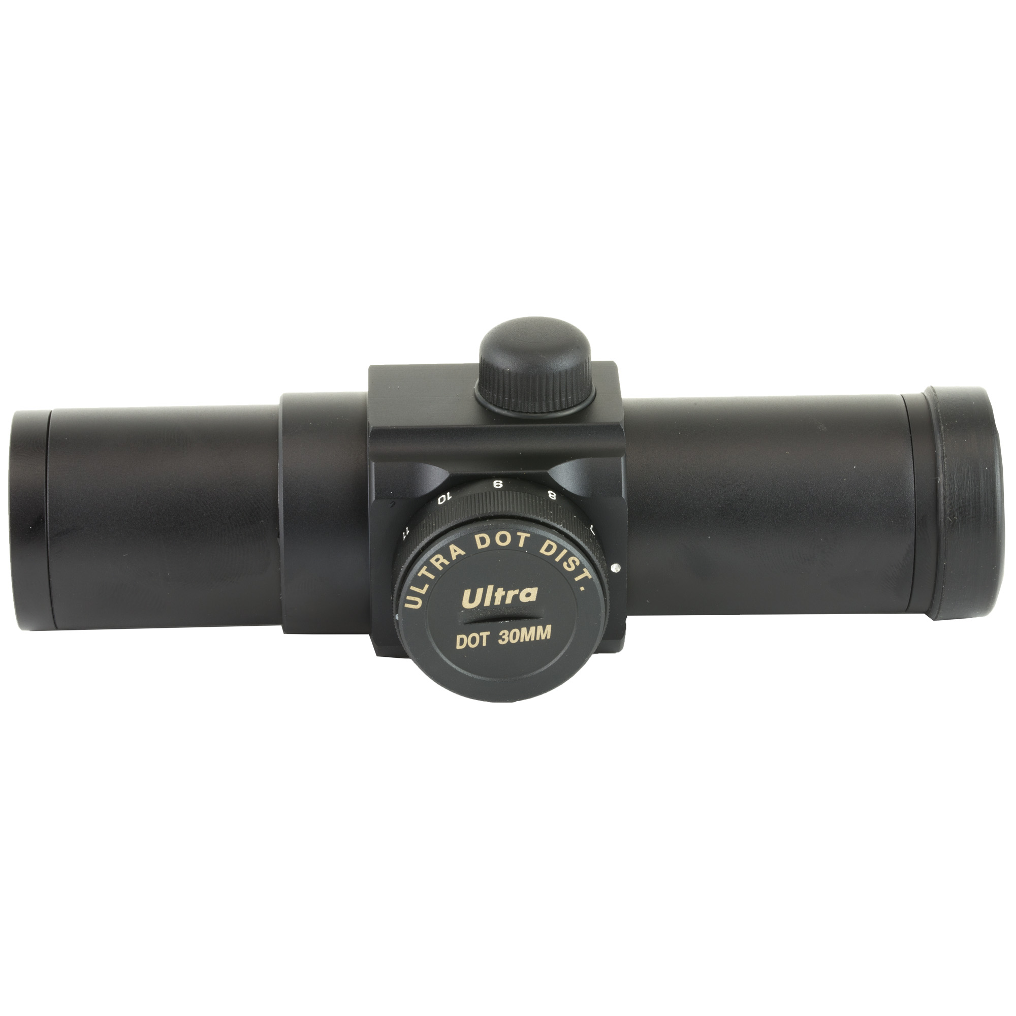 """The Ultradot 30 is only 5.1 inches long and weighs just 4.1 oz. 30mm diameter tube and click adjustable brightness control. Every sight comes complete with a battery"""" polarizing filter"""" tube extension"""" mounting rings and hex wrenches. Every Ultradot sight has a LIFETIME WARRANTY."""