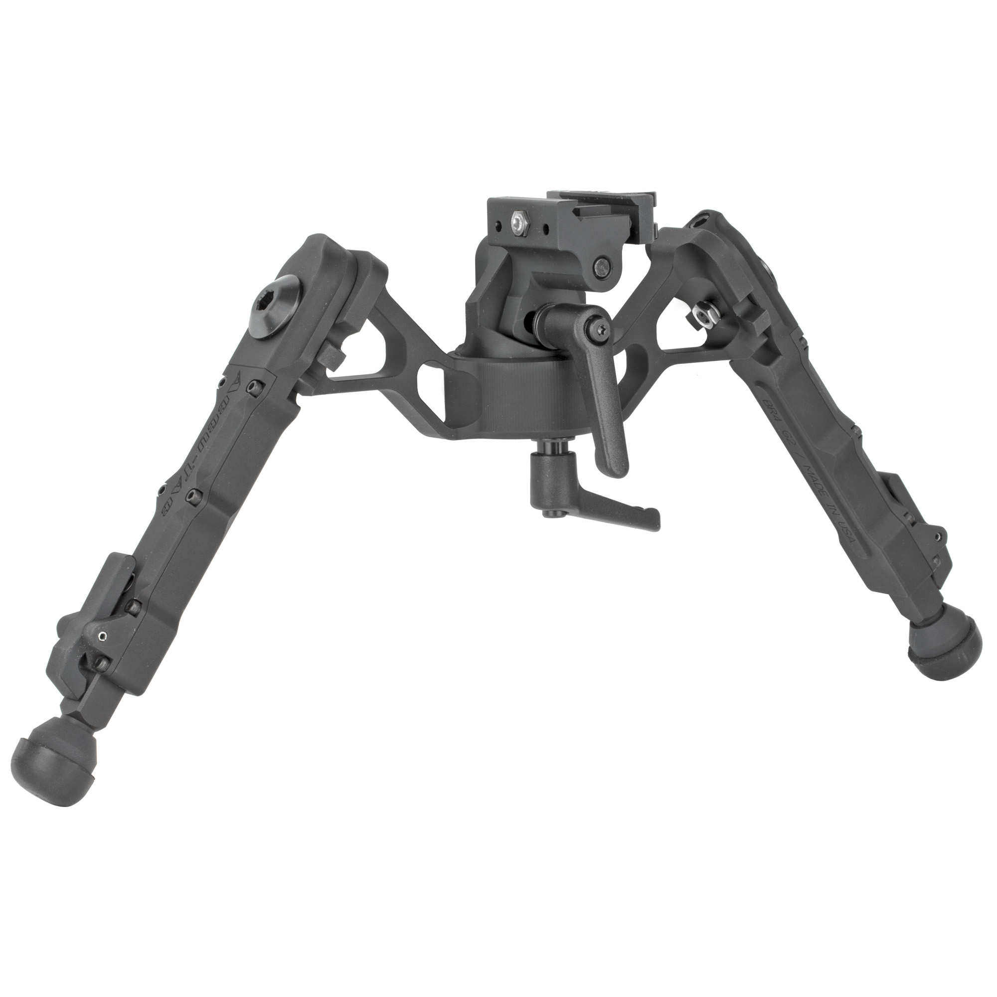 """The Accu-Tac F-G2 F-Class Bipod with the quick detach was designed"""" engineered"""" and manufactured in the USA. This bipod is perfect for long range"""" target"""" competition"""" and tactical shooting. The FC-G2 is 100% billet"""" made from the highest quality aircraft aluminum available. Their quick detach rail mount is simple"""" quick"""" and very secure. The quick detach attaches to a 1913 Picatinny rail and mounts in seconds without the need to use extra tools for tightening. Their F-Class has the ability to pan"""" and cant. The leg design allows the shooter to quickly adjust to 5 different positions with the advantage of being able to position each leg differently. To engage or adjust leg position"""" simply pull the leg downward to move each leg independently. Leg positions can be deployed in a 45 or 90 degree position either forwards or backwards"""" locking securely into 5 positions through a 180 degree arch."""