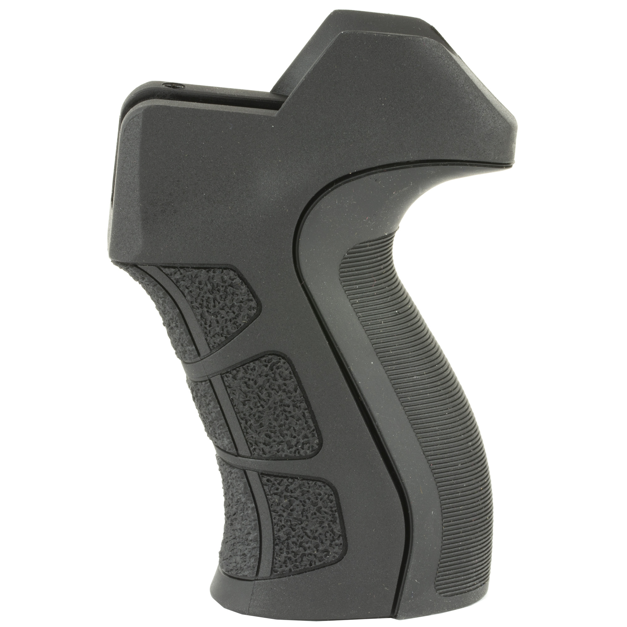 The Advanced Technology Int. X2 AR-15/AR-10 pistol grip fits most AR-15 and AR-10's. The X2 grip also fits the Ruger 22 Charger Pistol with AR-15 style grip. This pistol grip features a material that absorbs the initial shock wave which is the felt punch of the recoil. This increases the shooter's comfort while reducing the muzzle lift. Specifically Engineered Grip Dimensions Create the Optimal Distance from the Grip to the Trigger to Fit Most Hands. It is easy to install and uses original mounting hardware. The ATI AR-15 / AR-10 X2 Pistol Grip is designed to fit with a mil-spec locking ring. It will not fit with locking rings that have additional sling loops or QD Mounts. Made in USA.