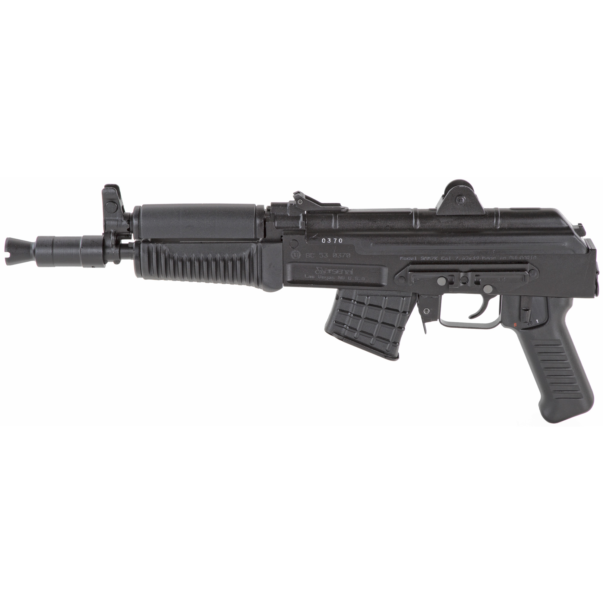 """Arsenal"""" Inc."""" the premier American importer and manufacturer of Kalashnikov-pattern rifles and pistols"""" is proud to offer to the American enthusiast the Bulgarian-made SAM7K Pistol."""