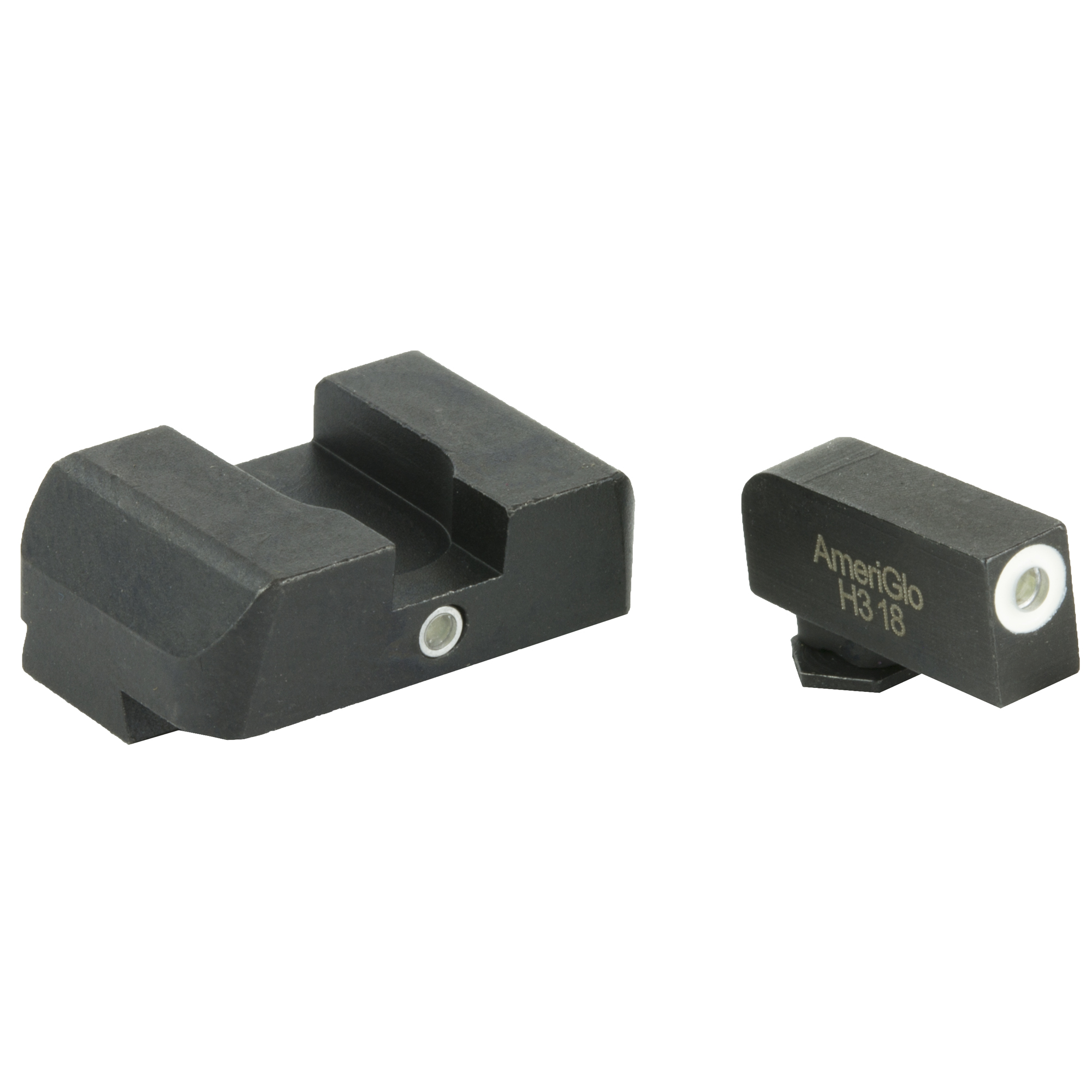 A quality set of night sights is a must if you plan on using a handgun for home defense and personal protection. Being able to aim in low-light conditions is an invaluable benefit made easy with the AmeriGlo I-Dot Tritium night sights for Glock handguns. These handgun sights are made from steel and feature a green tritium insert on the front sight post with a white photoluminescent outline for visibility during the day. The rear sight has only a single tritium lamp in the center that helps bring your eye to the front sight post for fast target acquisition. The I-Dot sight arrangement was designed with close quarters and speed in mind for those split-second moments where you don't have the time to line up a traditional three-dot sight. Just place the front dot on your target and squeeze the trigger. These pistol sights are easy to install and are a massive upgrade from your standard Glock sights. The AmeriGlo Tritium I-Dot sights are a great option for using your pistol day or night.
