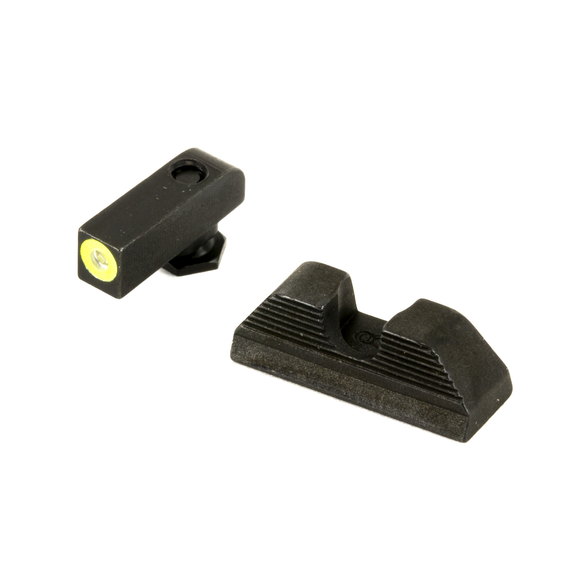 """This set was designed for rapid target acquisition"""" and is composed of a large"""" highly visible front sight and a black serrated U-notch rear. The simplicity of this combination minimizes distraction and greatly reduces the time between threat identification and threat neutralization"""" and is the ideal choice for any EDC weapon."""