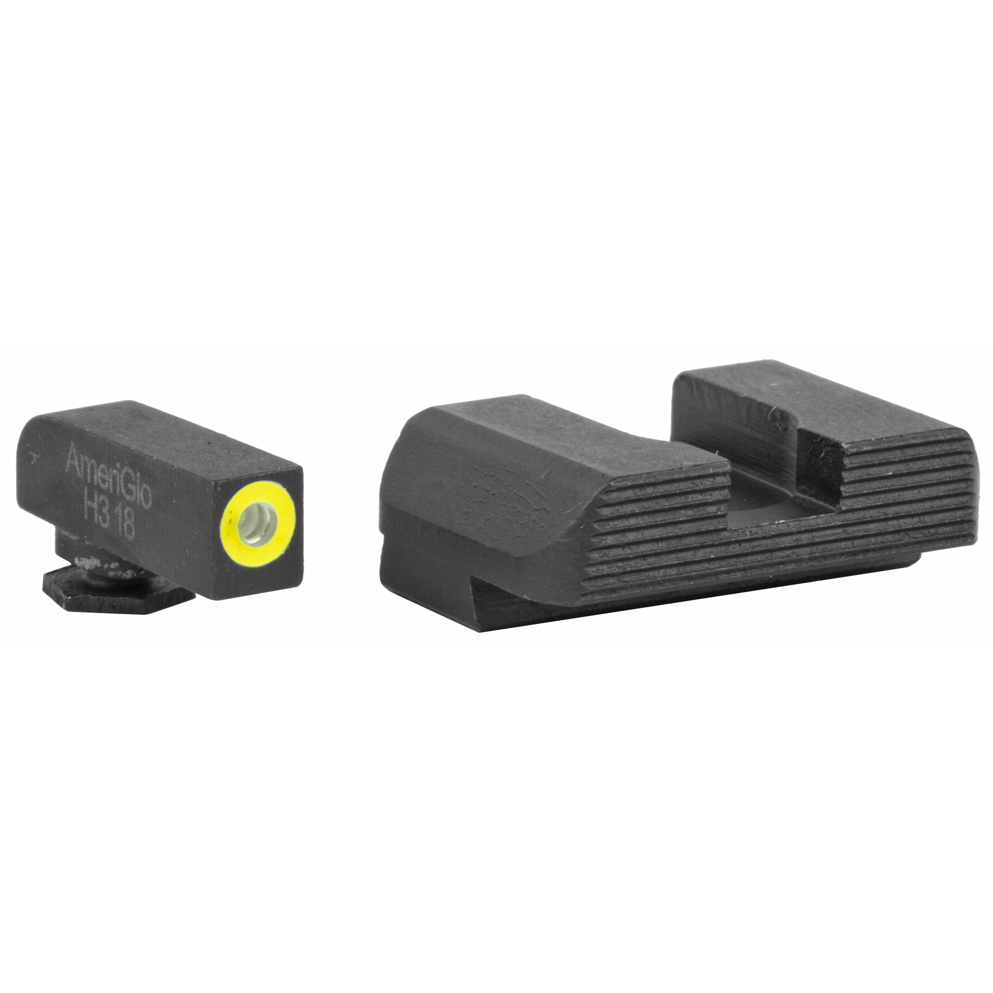 """Employing a glare-reducing black serrated rear sight paired with a tritium ProGlo front sight"""" the Protector Sights are designed for quicker front sight acquisition and maximized concentration on the front sight blade."""