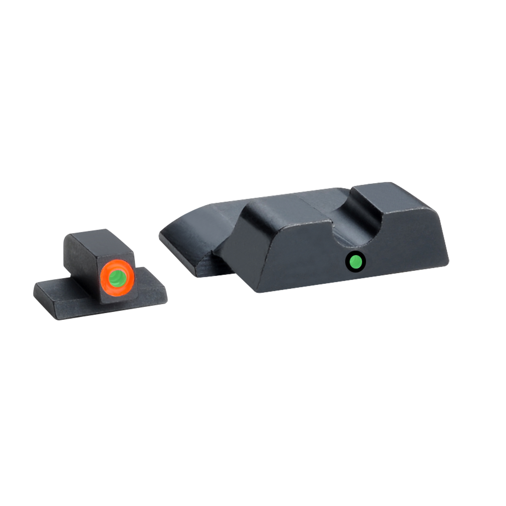 """Utilizing a dot-over-dot configuration"""" their i-Dot sets have an extended square-notch rear for increased sight radius with a glare-reducing undercut rear face. The i-Dot sights provide a quick and easy vertical sight alignment"""" making it an excellent choice for all shooters."""