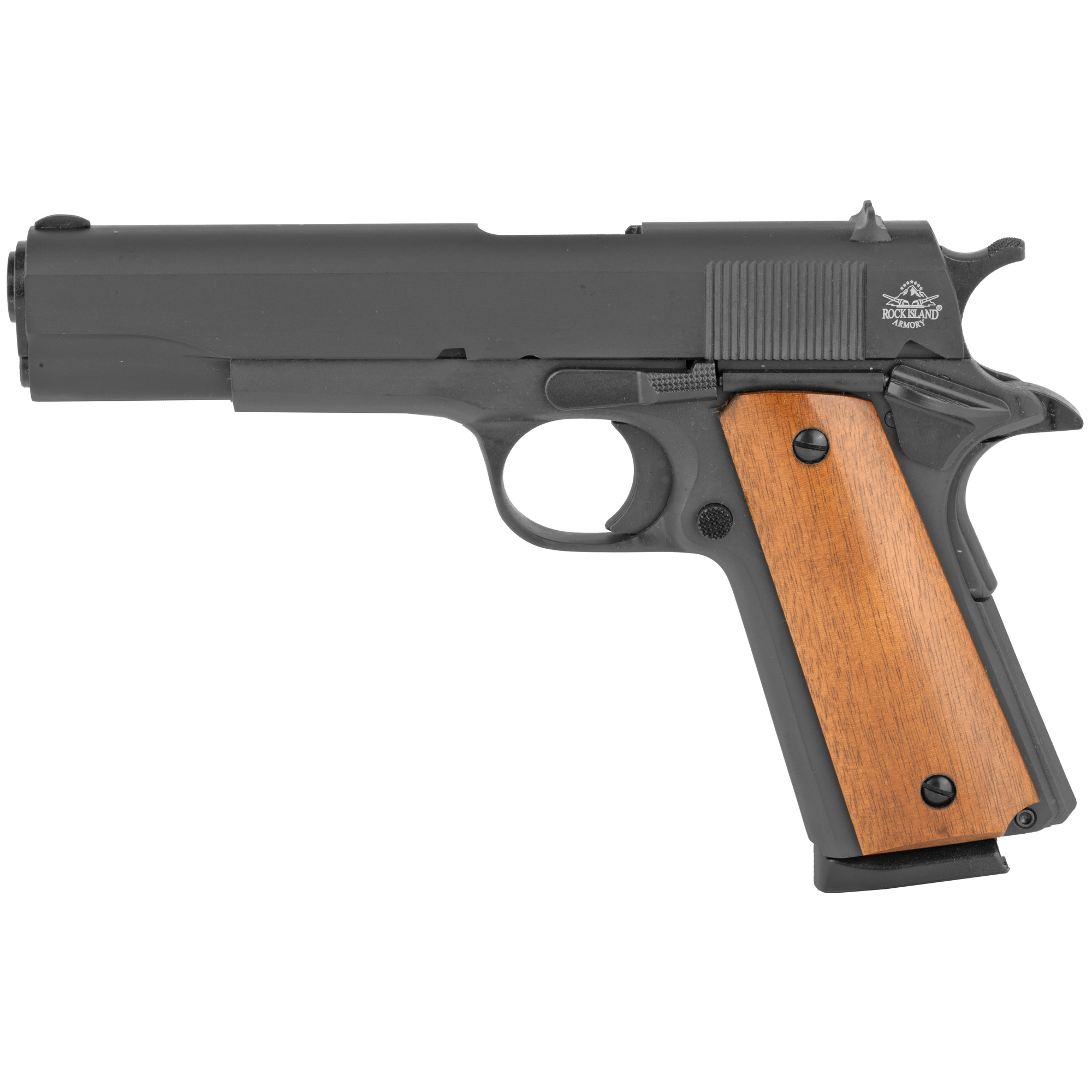 """Built to true Series 70 design"""" Rock Island Armory has the most well-built and versatile 1911s available today at a price point that is not achieved by any other manufacturer. Each firearm is built using 4140 Ordnance steel and engineered using the latest CNC machines. All 1911s are hand-fitted and confirmed to meet strict tolerance and quality requirements in tightness"""" smoothness and overall look and feel."""