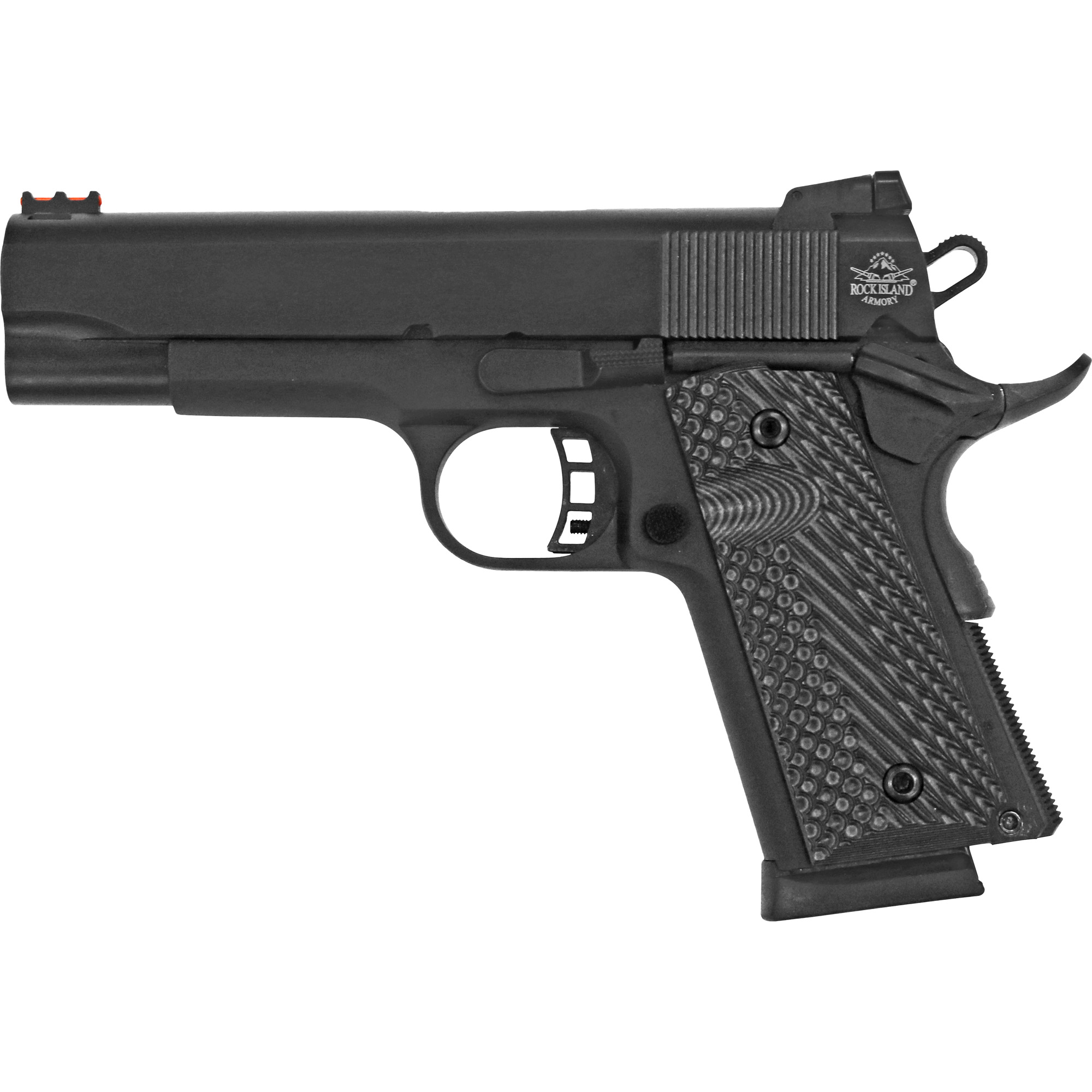 """The CCO combines an Officer-grip Aluminum frame with a Commander-length slide. The shorter"""" compact Officer-sized grip aids concealed carry and minimizes the chance of printing under a cover garment."""