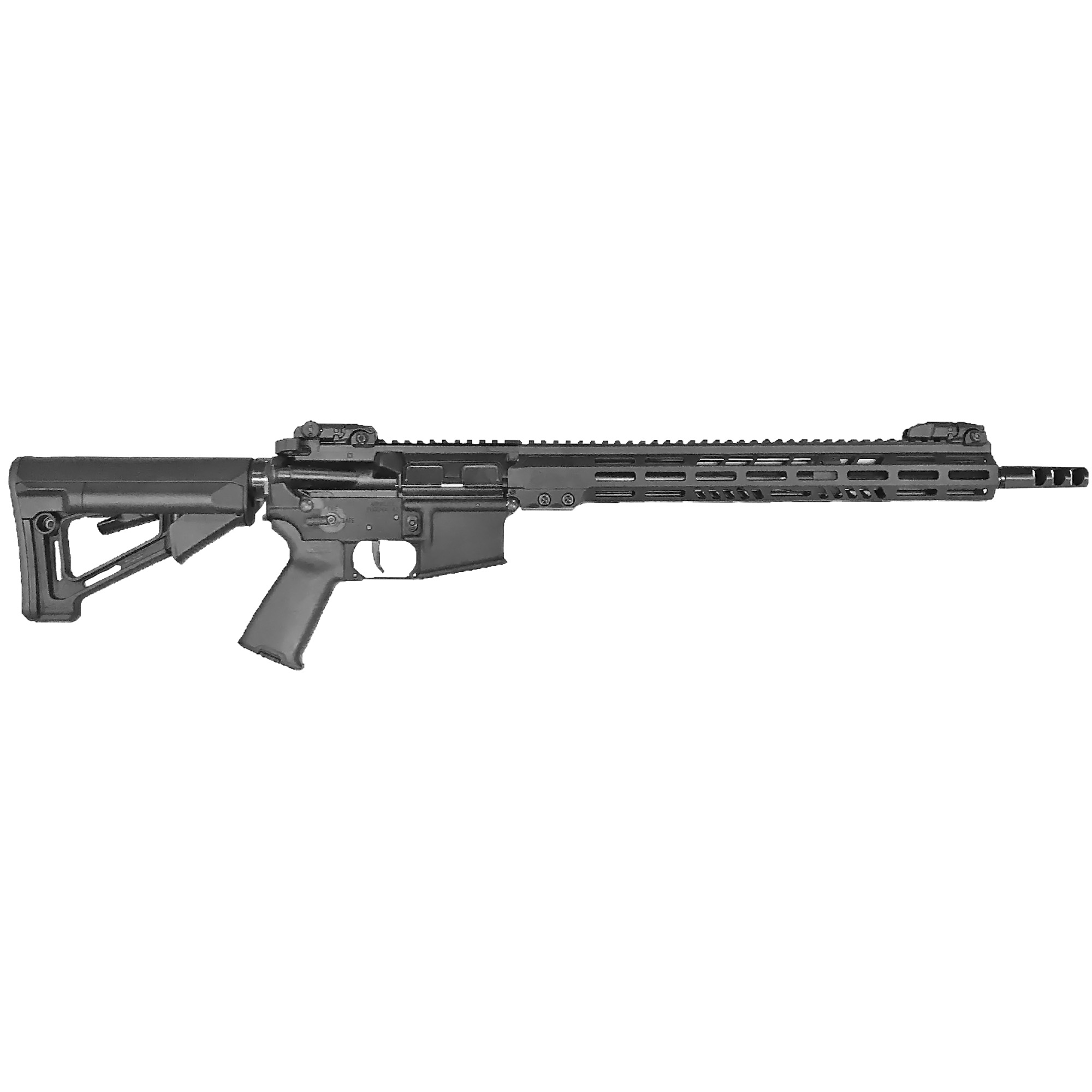 """With its 16"""" barrel at the heart of its design"""" the M15TAC16 blends rugged durability with exacting precision. The tactical handguard's slim"""" octagonal profile sports a full-length MIL-STD 1913 12 o'clock rail for sights and accessories. The adjustable gas block allows the user to tune the rifle for their preferred ammunition and/or suppressor use. Like all tactical series rifles"""" it comes standard with Magpul MBUS flip-up sights."""