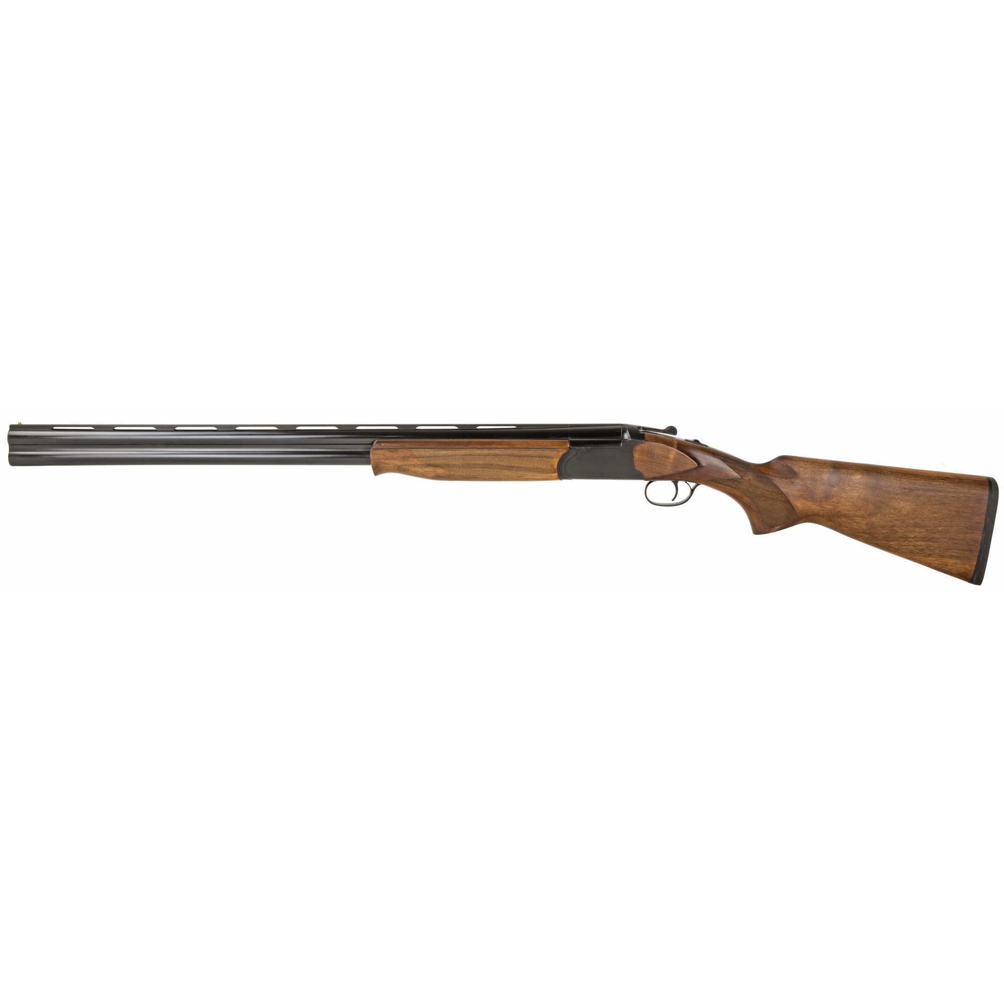 """The MR-100-12 is an over/under"""" 12 gauge shotgun with 28"""" barrels. It features a chamber capable of firing 2-3/4 or 3"""" shells. The classic look of this shotgun is enhanced by the blued finish and walnut stock."""