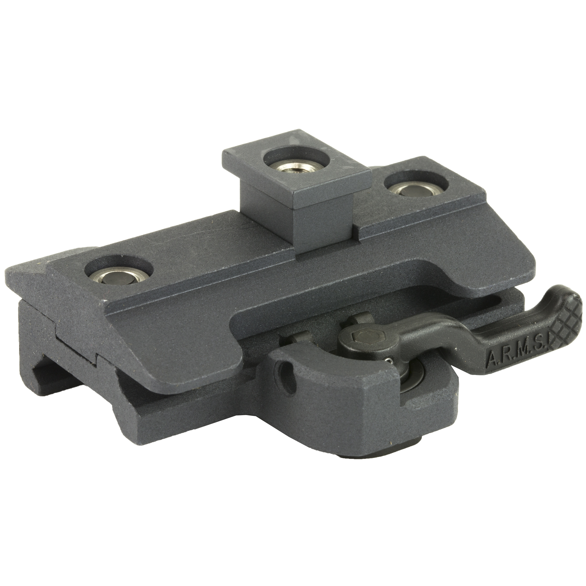 The A.R.M.S. #32 Throw Lever Adapter for the Harris-type Bi-Pod is designed to allow the fastest attach and detachability possible. There is no gunsmithing required. You simply remove the adjustment screw assembly and install the A.R.M.S. Throw Lever assembly. It is designed to allow the lever to be attached to either side of the bipod for a light weight low profile attachment. Made in the USA.