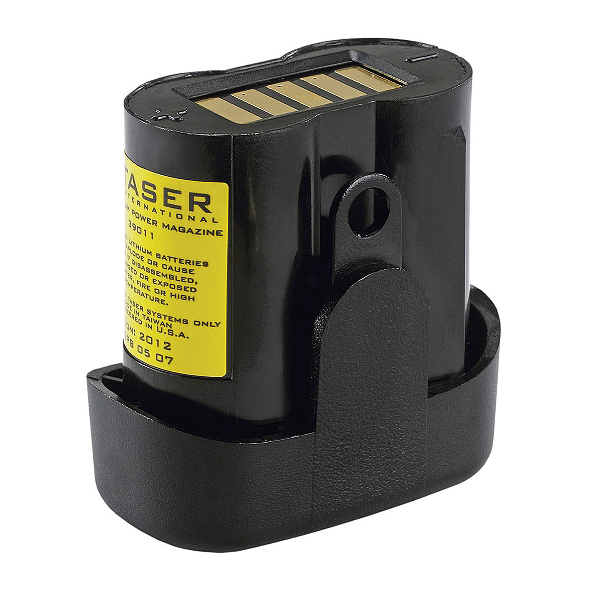 This durable lithium power magazine powers all C2 devices and lasts up to 50 firings. This is not a rechargeable battery