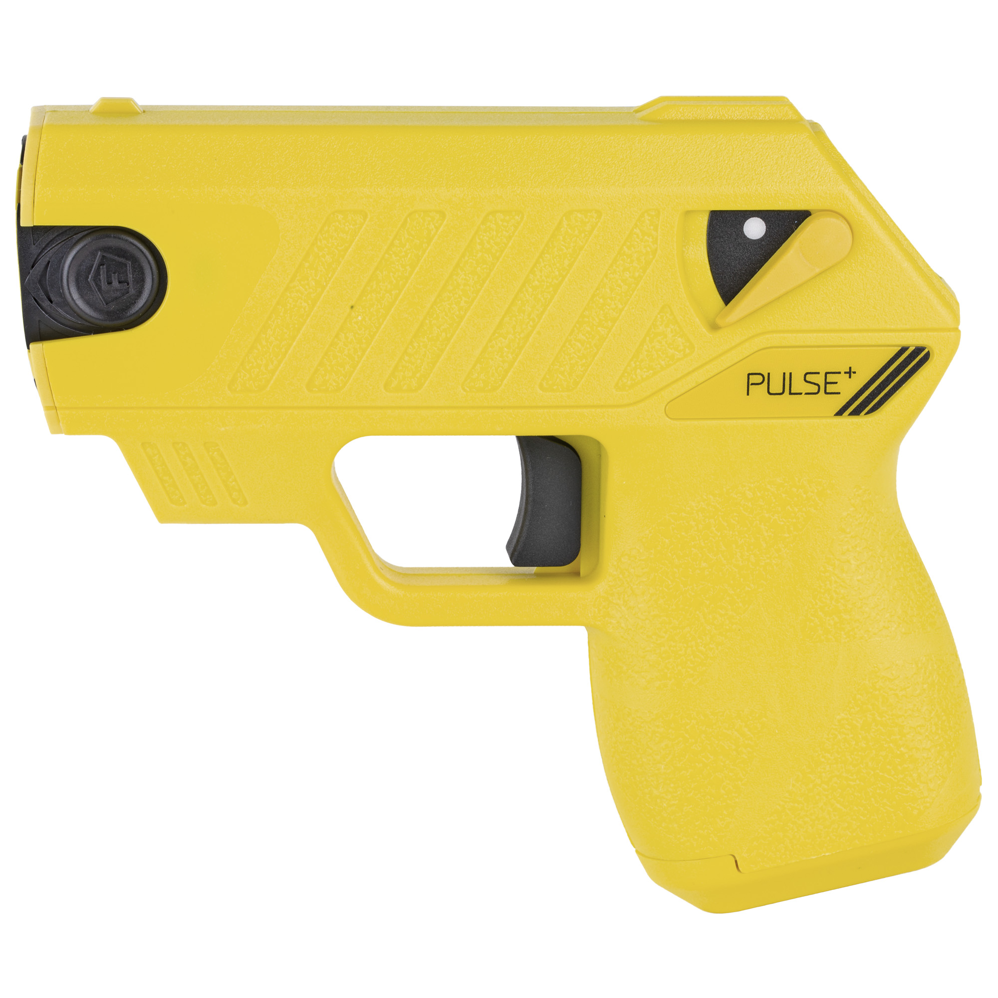 """The TASER Pulse+ brings safety in today's connected world. Using the same less-lethal technology as law enforcement"""" the Pulse+ integrates with your mobile phone via the Noonlight mobile app to contact emergency dispatch when fired. No fumbling for the phone or freezing up in fear. Pull the trigger and help is on the way. Weighing in at just 8 ounces"""" this high-tech"""" intuitively-designed device is revolutionizing the self-defense market. You're fast-paced and connected. Your self-defense tool should be too."""