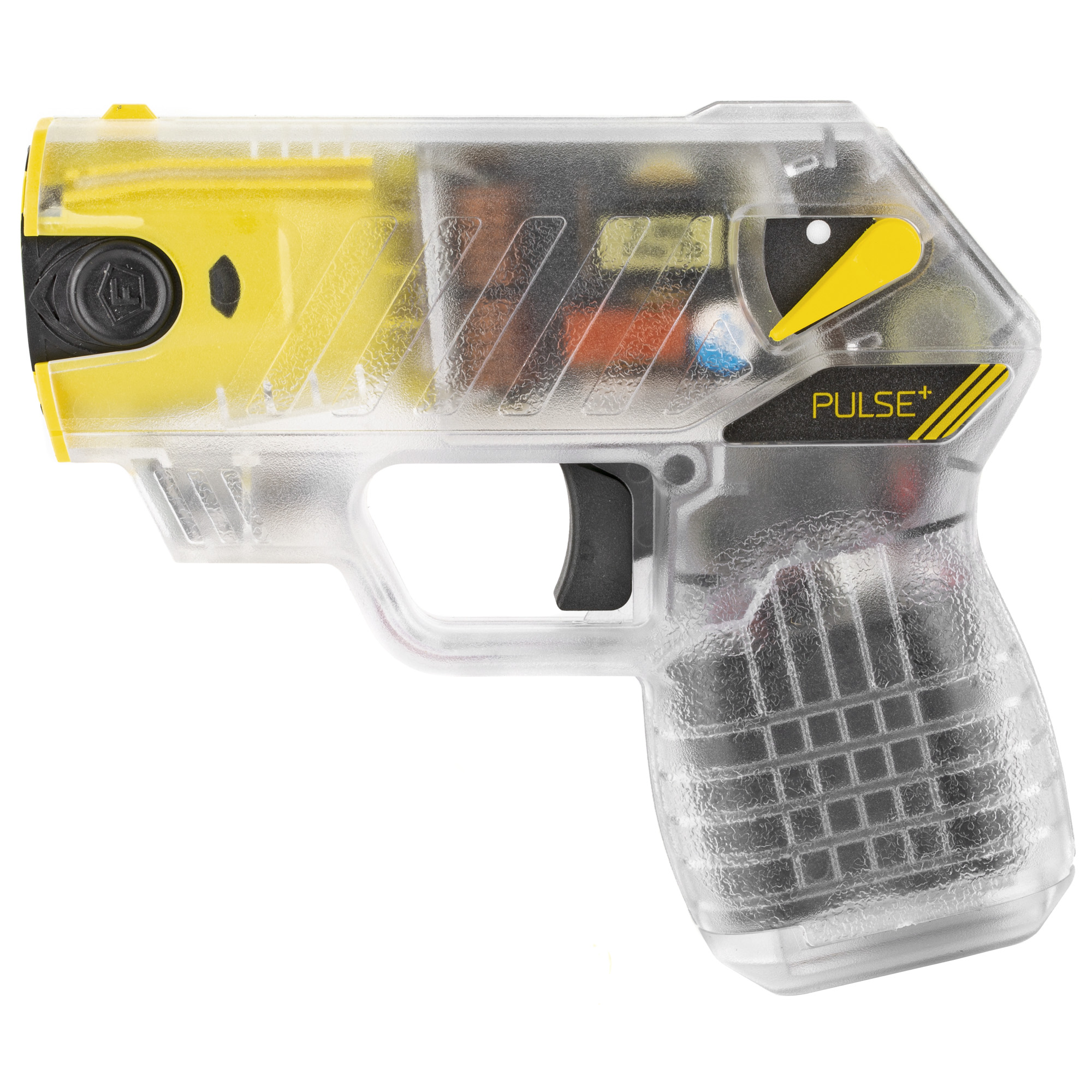 """The TASER Pulse+ brings safety in today's connected world. Using the same less-lethal technology as law enforcement"""" the Pulse+ integrates with your mobile phone via the Noonlight mobile app to contact emergency dispatch when fired. No fumbling for the phone or freezing up in fear. Pull the trigger and help is on the way. Weighing in at just 8 ounces"""" this high-tech"""" intuitively-designed device is revolutionizing the self-defense market. You're fast-paced and connected"""" Your self-defense tool should be too."""