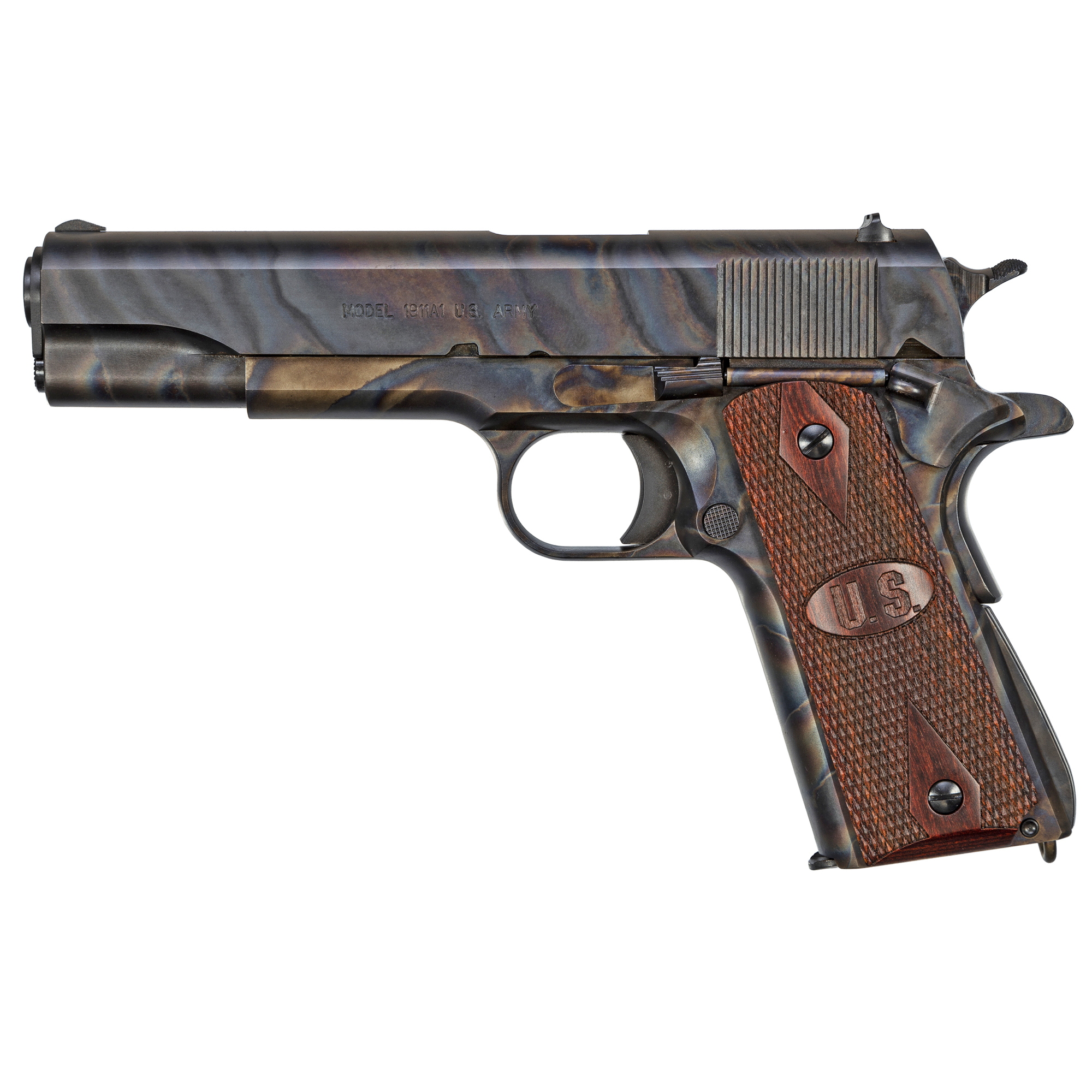 "Taking a classic 1911 to the next level without diminishing its history is no easy feat"" but adding an even more classic finish formally raises the bar. Auto-Ordnance has done just that with the new GI Series 1911 with ""case hardened"" finish."