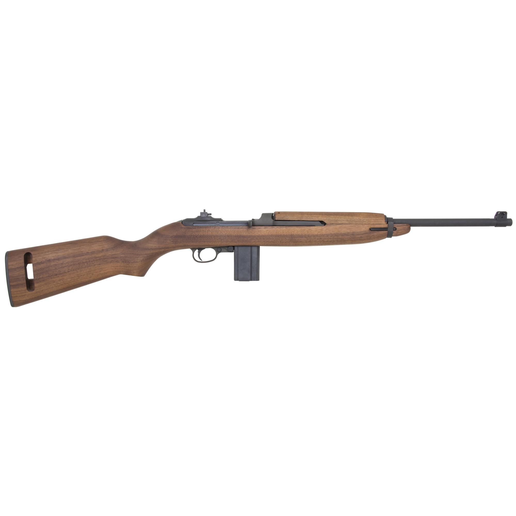 "Each Auto-Ordnance M1 Carbine is a faithful reproduction of the famous military rifles that served American forces beginning in World War II. Each rifle has a Parkerized finish"" American Walnut stock"" 15 round magazine"" 18"" barrel and flip-style rear sight."