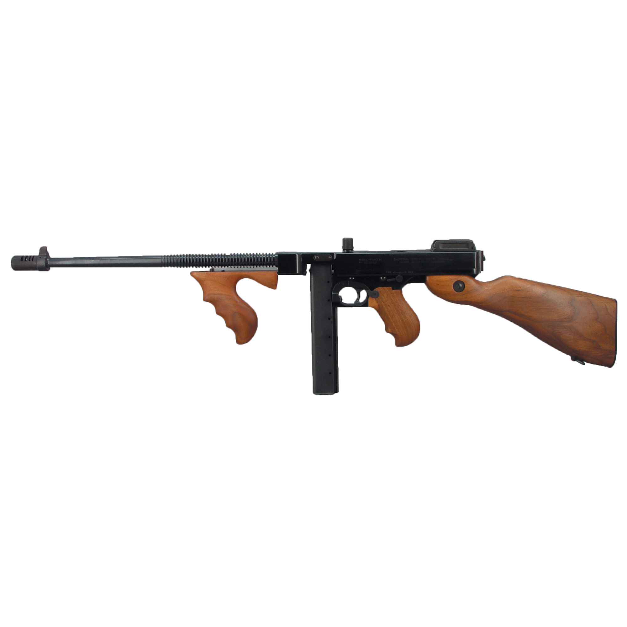 "For more than 100 years"" the ""Chicago Typewriter(R)"" has been a favorite among collectors and shooting enthusiasts. The Tommy Gun is available with a steel receiver (T1 models) or a lighter weight aluminum receiver (T5 models)."