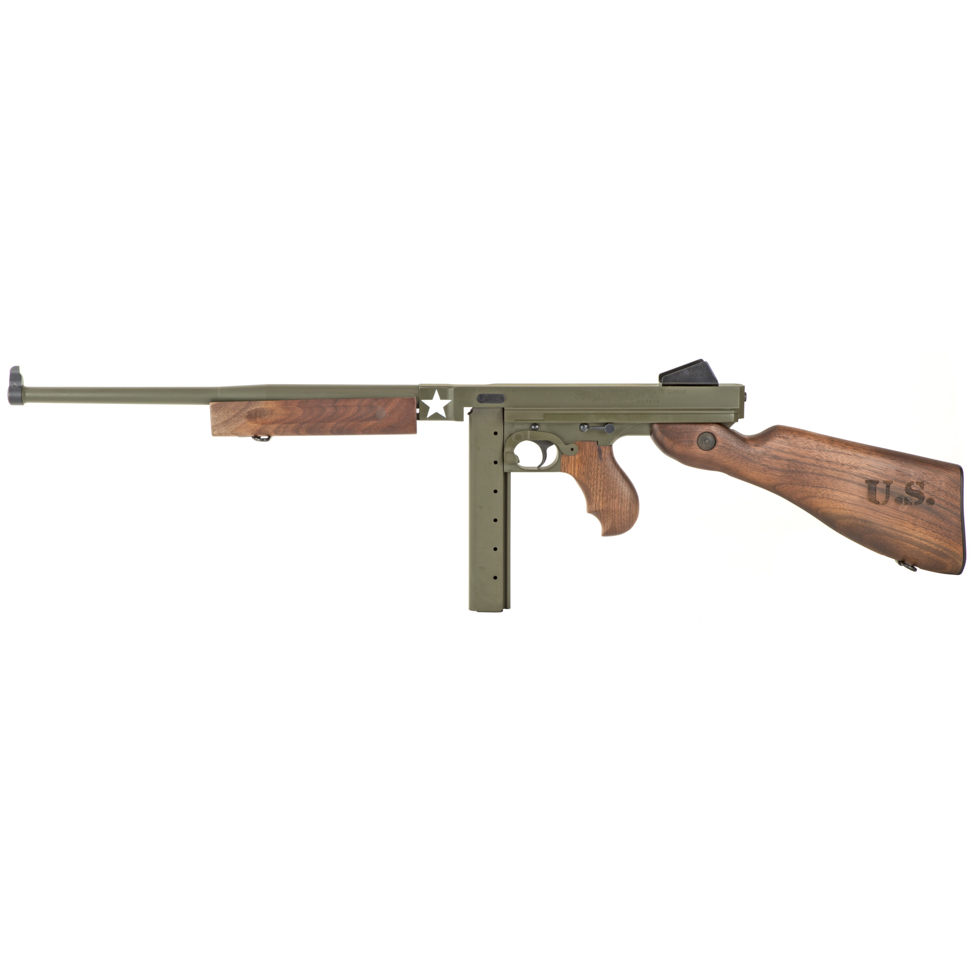 "The Thompson M1 was used victoriously in battles throughout the world"" inscribing its place for all time as a legend among military firearms."
