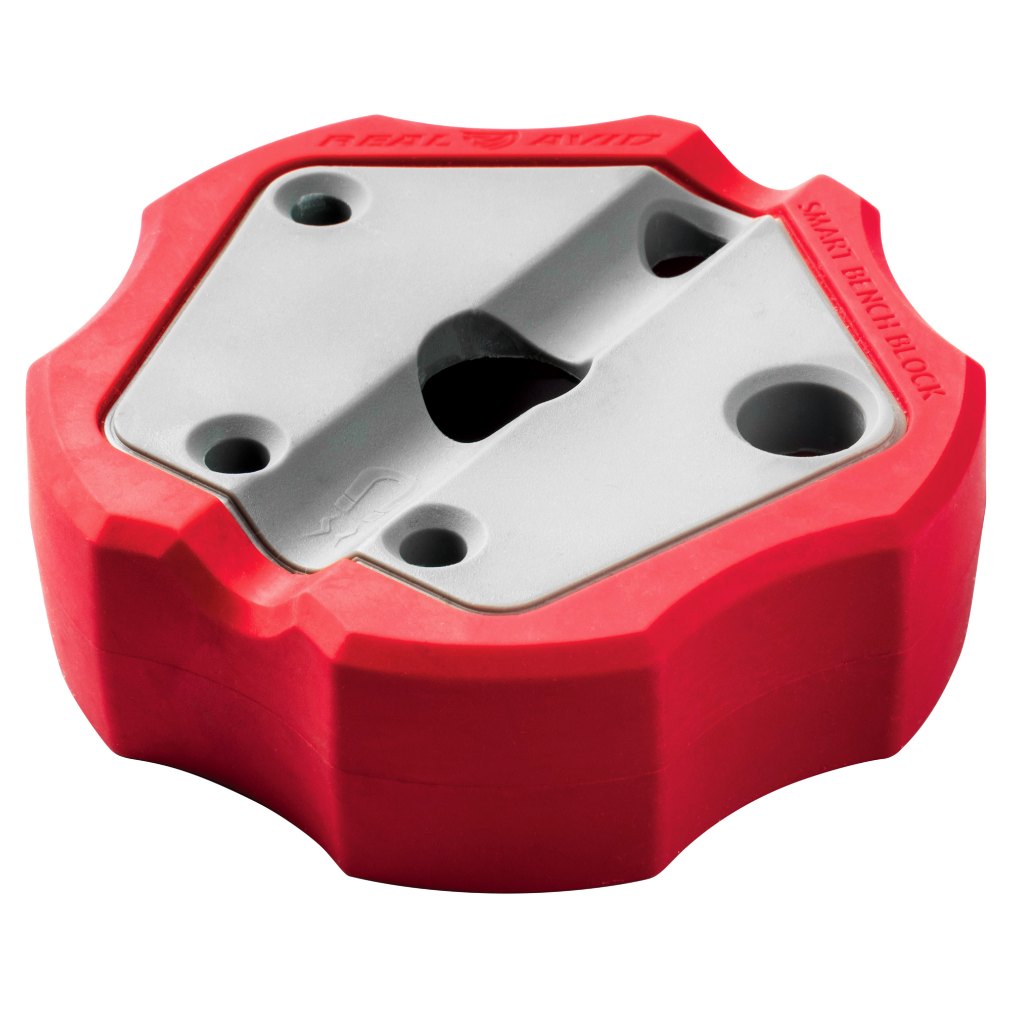 "Made from engineering-grade resin"" this block won't mar or damage your favorite guns and the outside rubber liner keeps the block from sliding on any surface when driving pins. And inside the block is a magnet that grabs dropped pins."