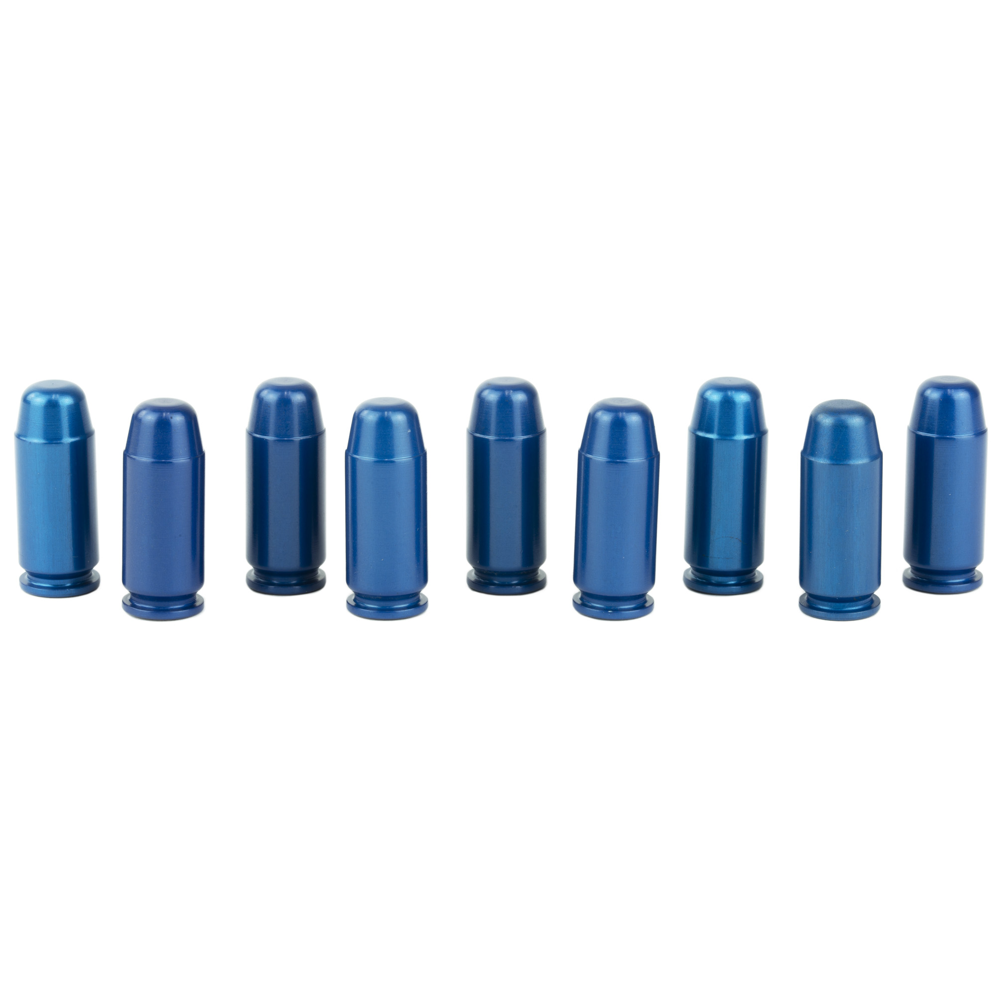 """For safety training"""" function testing or safely decocking without damaging the firing pin"""" A-Zoom training rounds are much more than conventional snap-caps. They are precision CNC machined from solid aluminum to precise cartridge dimensions"""" then hard anodized for ultra-smooth functioning and long life."""
