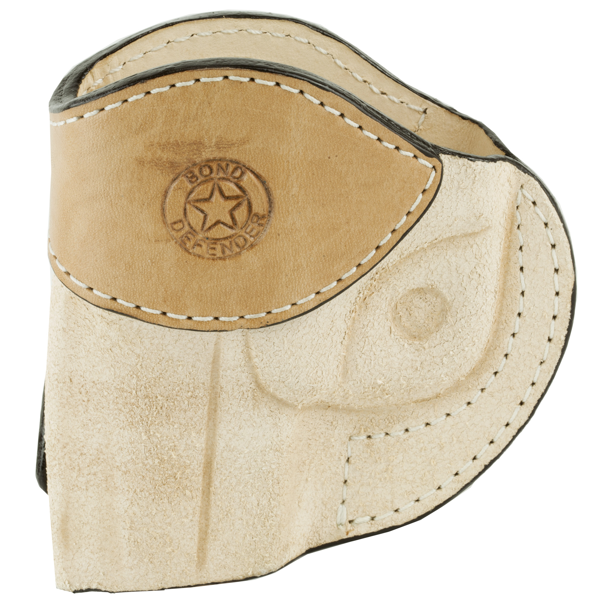 """Made from natural leather"""" this inside the waist band holster uses a stout metal belt clip for positive retention. Formed to the exact shape of your Snake Slayer IV. Suitable for conceal and carry as a small of the back"""" cross draw or strong hand presentation. These holsters are meant to be used with the Satin (smooth polished stainless steel) finished firearms."""