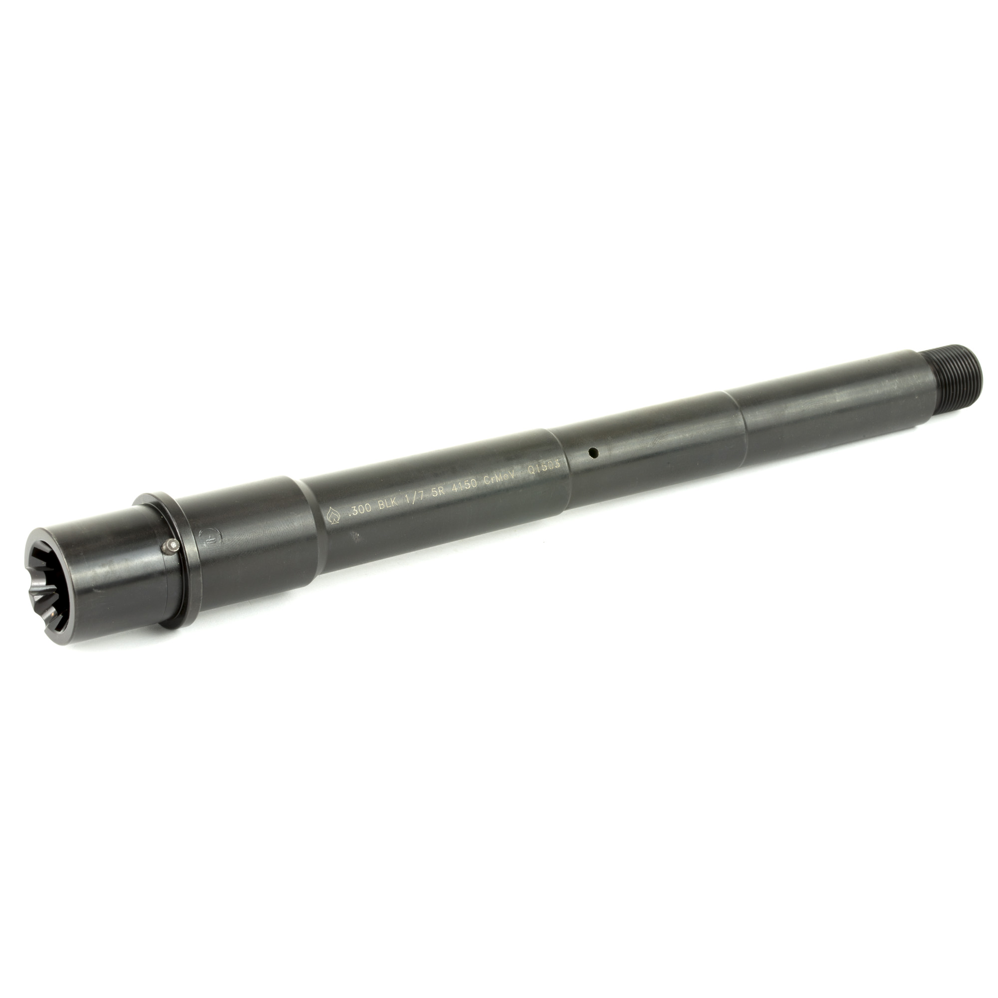 """This .300 Blackout chambered 8 inch Modern Series Barrel is machined from 4150 Chrome Moly Vanadium steel with a QPQ Corrosion Resistant Finish and QPQ coated M4 feed ramp extension. All NFA/ATF Rules Apply. You may use this barrel with a lower receiver that is a Registered SBR"""" Machine Gun"""" or Pistol. Possession of this barrel along with a Non-NFA lower receiver is Prohibited"""" except when installed on a Pistol configuration firearm."""