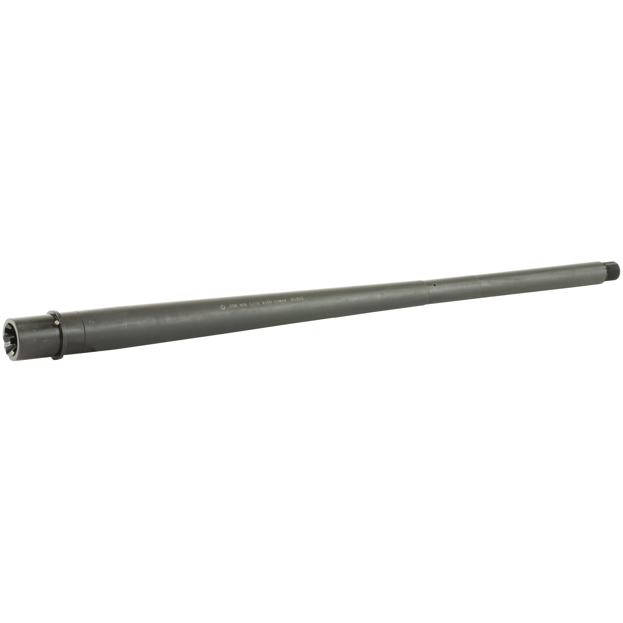 This .308 chambered (DPMS style) 20 inch Heavy Profile Modern Series Barrel is machined from 4150 Chrome Moly Vanadium steel with a QPQ Corrosion Resistant Finish and QPQ coated M4 feed ramp extension.
