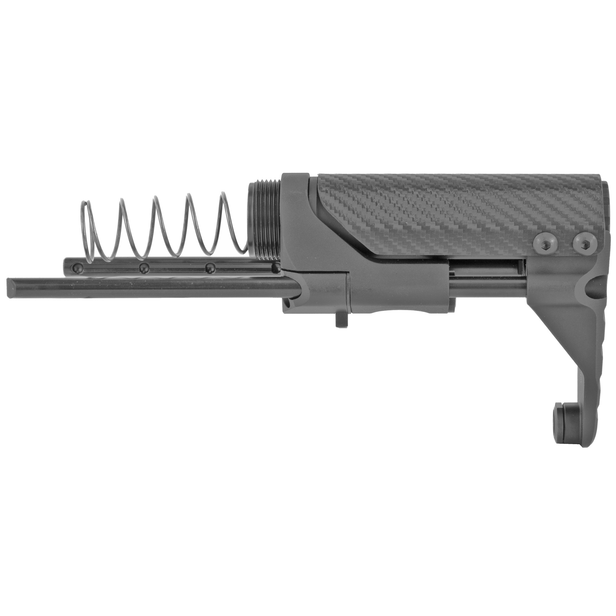 "The Battle Arms Development's Vert Stock System-PDW Stock is M16 BCG compatible with no proprietary bolt carrier group required. It offers a continuous cheek rest for stable shooting"" ultra-compact buffer and buffer spring"" four locking stock positions and two QD sling swivel points. The system is designed for 5.56/.223 direct gas impingement systems and will also work on 300BLK DI systems as well but must have appropriate gas port size. Will not work with solid filled 9mm bolt carrier.The inside"" rear cavity of the bolt carrier must be .625"" in diameter x .625"" deep minimum to clear the buffer. The system should be configured"" installed and function checked by a qualified gunsmith for reliable and safe operation."