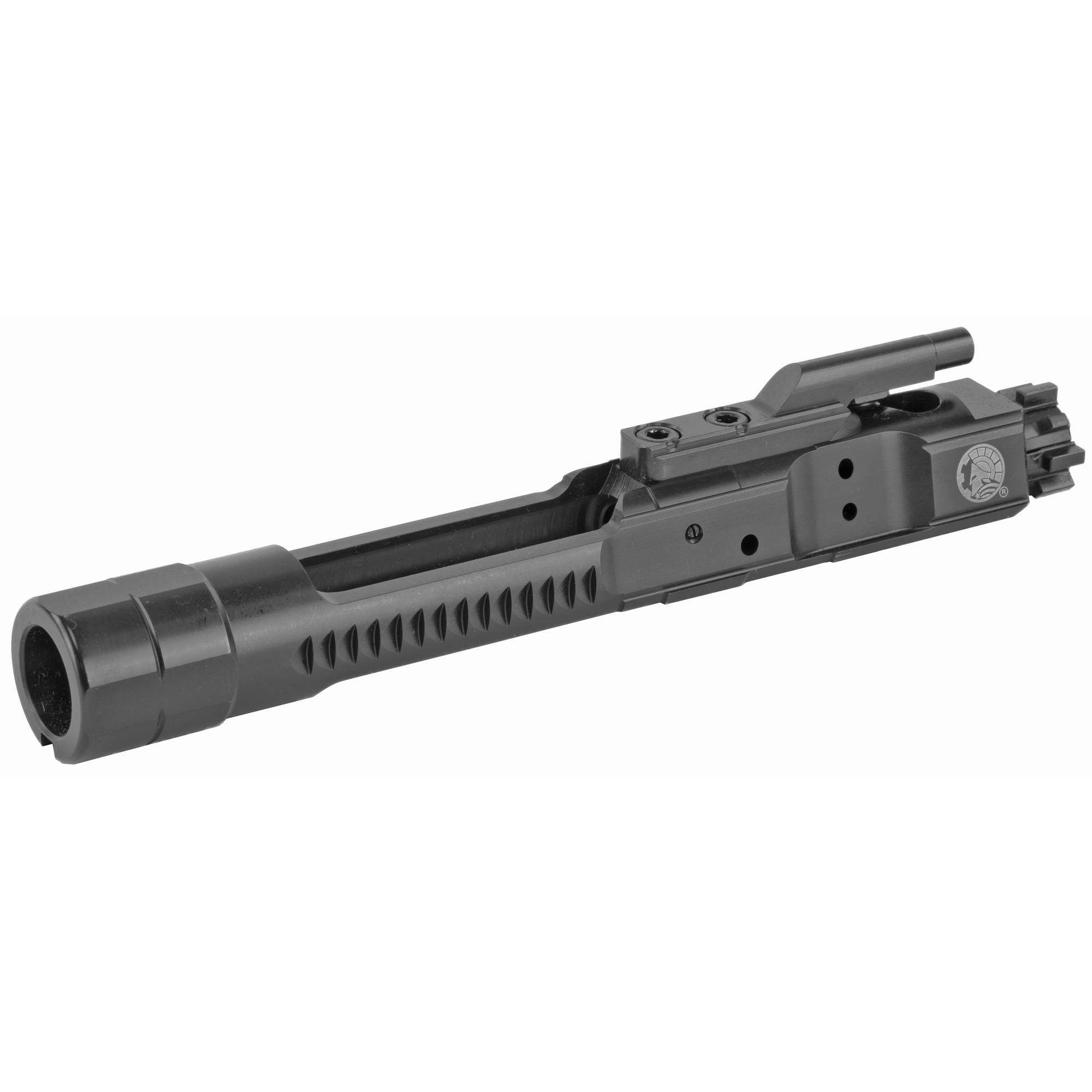 The Enhanced Bolt Carrier Group features new bolt carrier geometry and is designed to reduce carrier tilt. The key bearing surfaces are relocated to increase reliability and are properly staked.