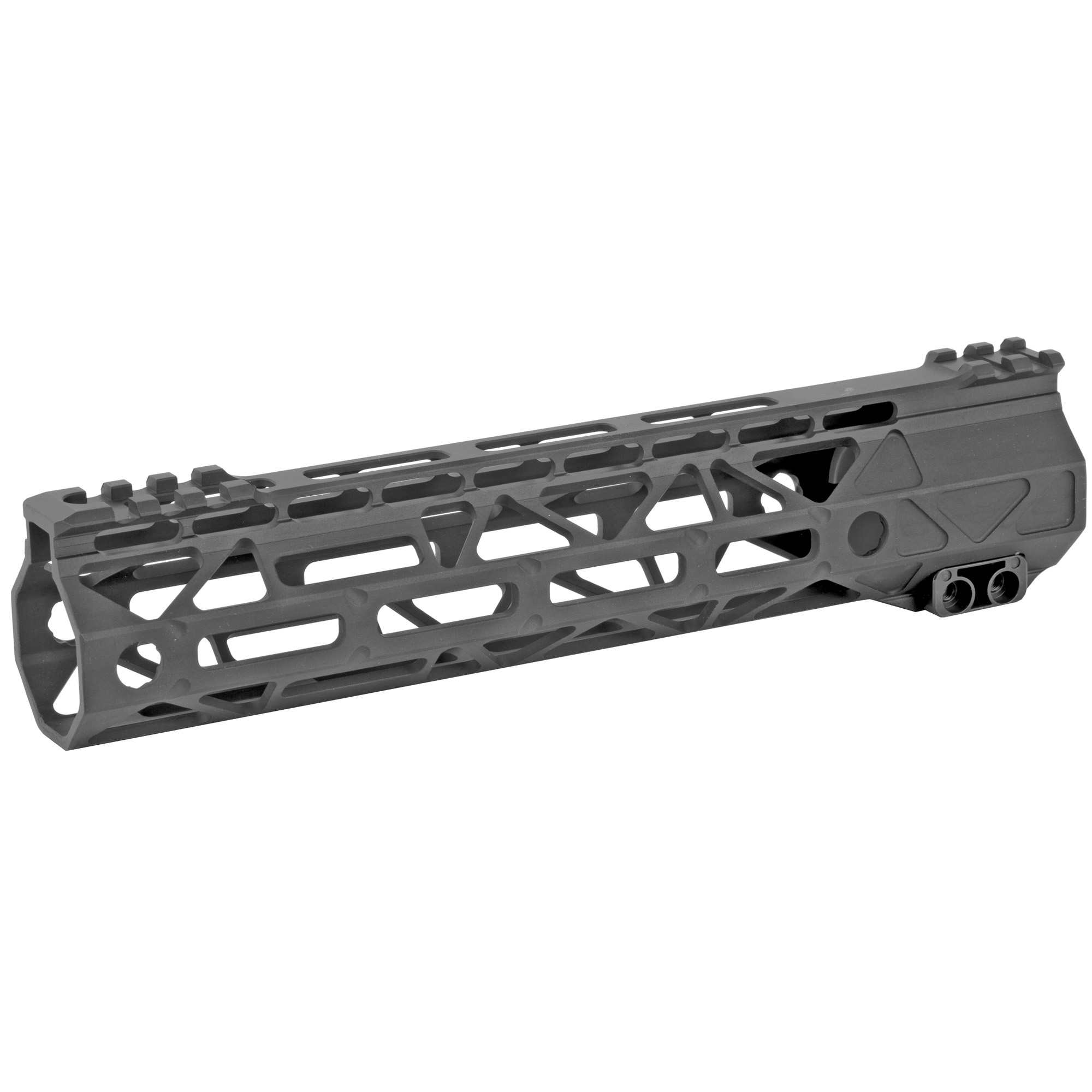 "The Battle Arms Development's Rigidrail 9.5"" M-Lok Handguard is designed to balance between light weight and strength/rigidity. The overall length is 9.5"" and the inner diameter is 1.315"". M-LOK Slots at 3"" 6"" 9"" and partial 12 o'clock positions"" and additional single M-Lock slots at four"" 45 degree positions"" for forward mounting light"" laser"" etc. It is compatible with AR-15 upper receivers and most low profile gas blocks."