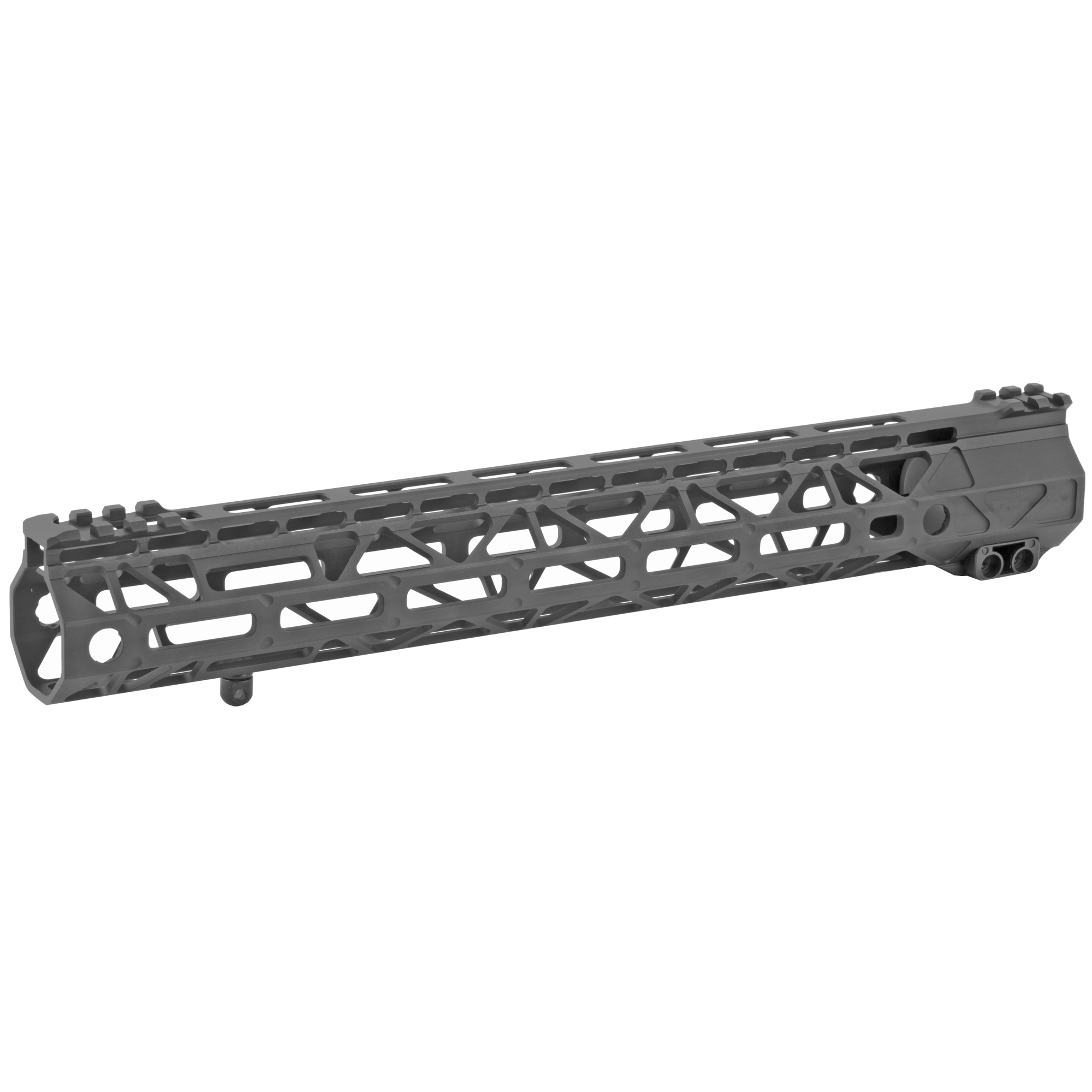 "The Battle Arms Development's Rigidrail 13.7"" M-Lok Handguard is designed to balance between light weight and strength/rigidity. The overall length is 13.7"" and the inner diameter is 1.315"". M-LOK Slots at 3"" 6"" 9"" and partial 12 o'clock positions"" and additional single M-Lock slots at four"" 45 degree positions"" for forward mounting light"" laser"" etc. It is compatible with AR-15 upper receivers and most low profile gas blocks."