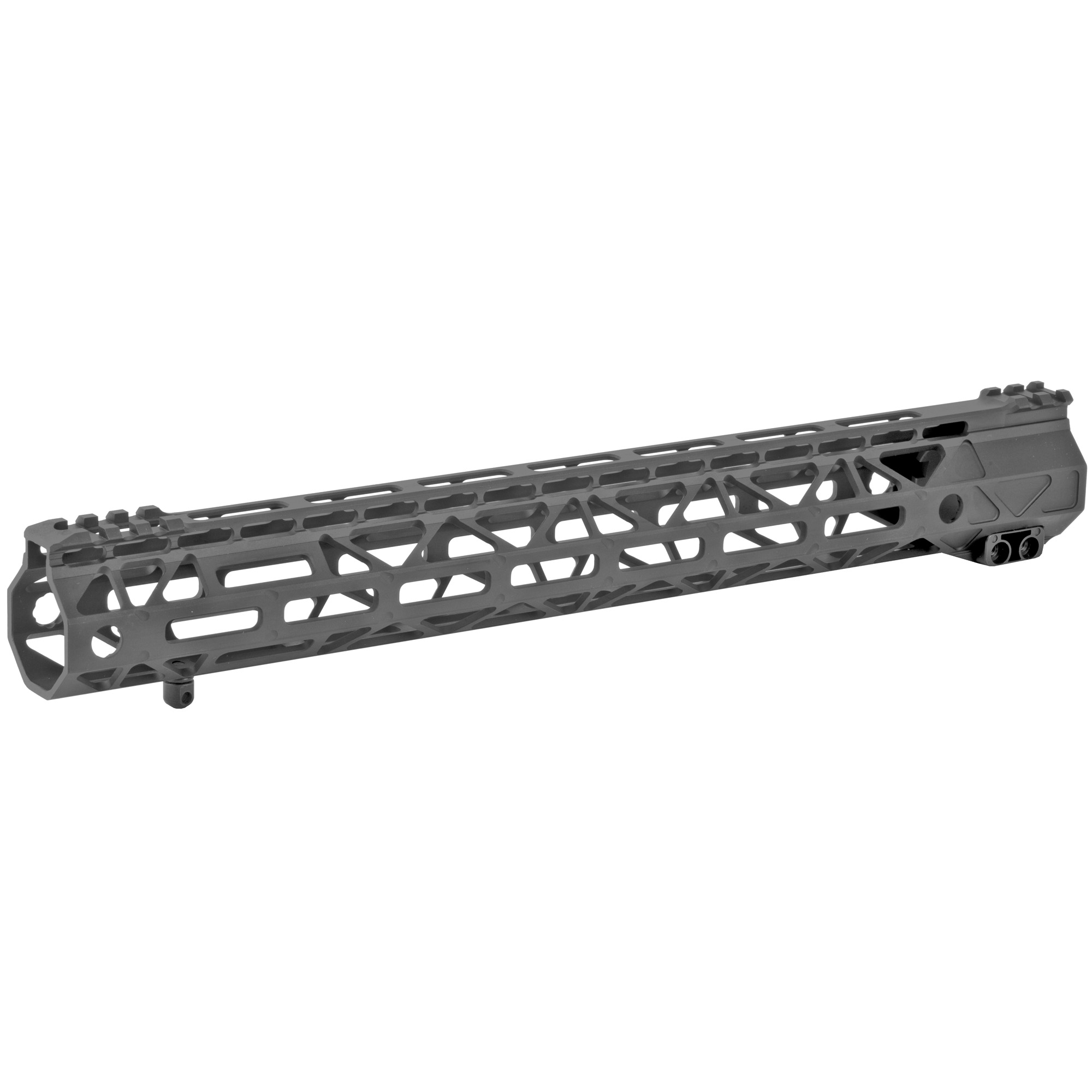 "The Battle Arms Development's Rigidrail 15"" M-Lok Handguard is designed to balance between light weight and strength/rigidity. The overall length is 15"" and the inner diameter is 1.315"". M-LOK Slots at 3"" 6"" 9"" and partial 12 o'clock positions"" and additional single M-Lock slots at four"" 45 degree positions"" for forward mounting light"" laser"" etc. It is compatible with AR-15 upper receivers and most low profile gas blocks."