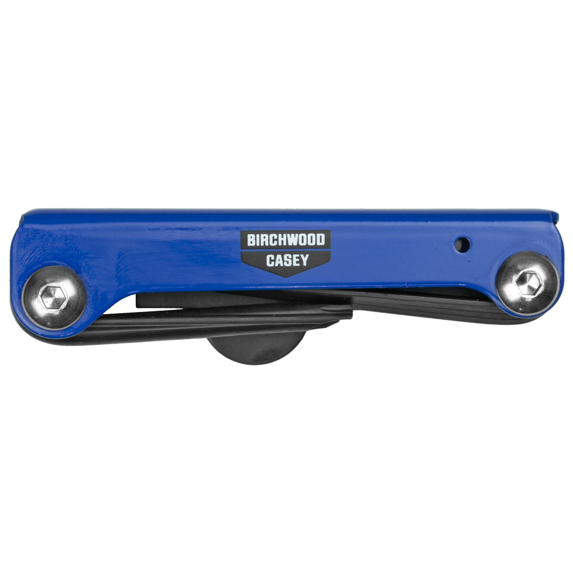 The Birchwood Casey(R) gun plumber folding multi tool is built from quality steel and is portable for range or field use. Gunsmith selected bits cover all your firearm repairs.
