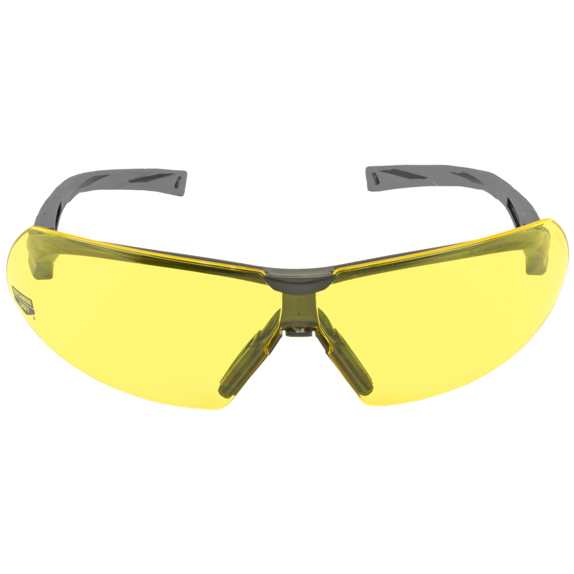 The SKYTE Yellow Lens Eye Protection exceed high velocity impact standards and feature a free floating lens design. These shooting glasses offer high-end performance at a price all shooters can afford. The Yellow lens is a great choice for low light shooting conditions.