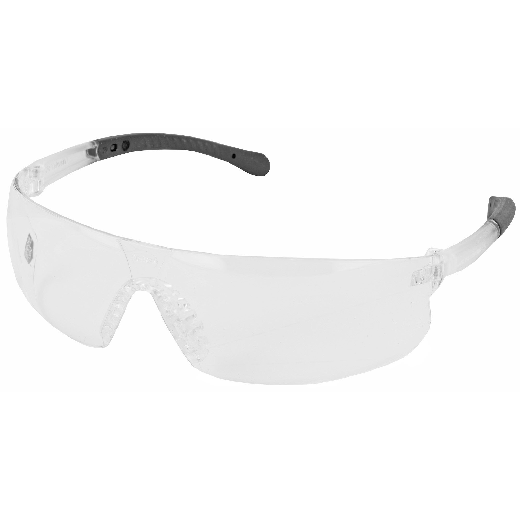 "Birchwood Casey Lycus Glasses are constructed of polycarbonate for maximum protection and feature soft"" rubberized temples and an anti-slip nose piece. Also includes a set of foam ear plugs for a total eye and ear protection package."