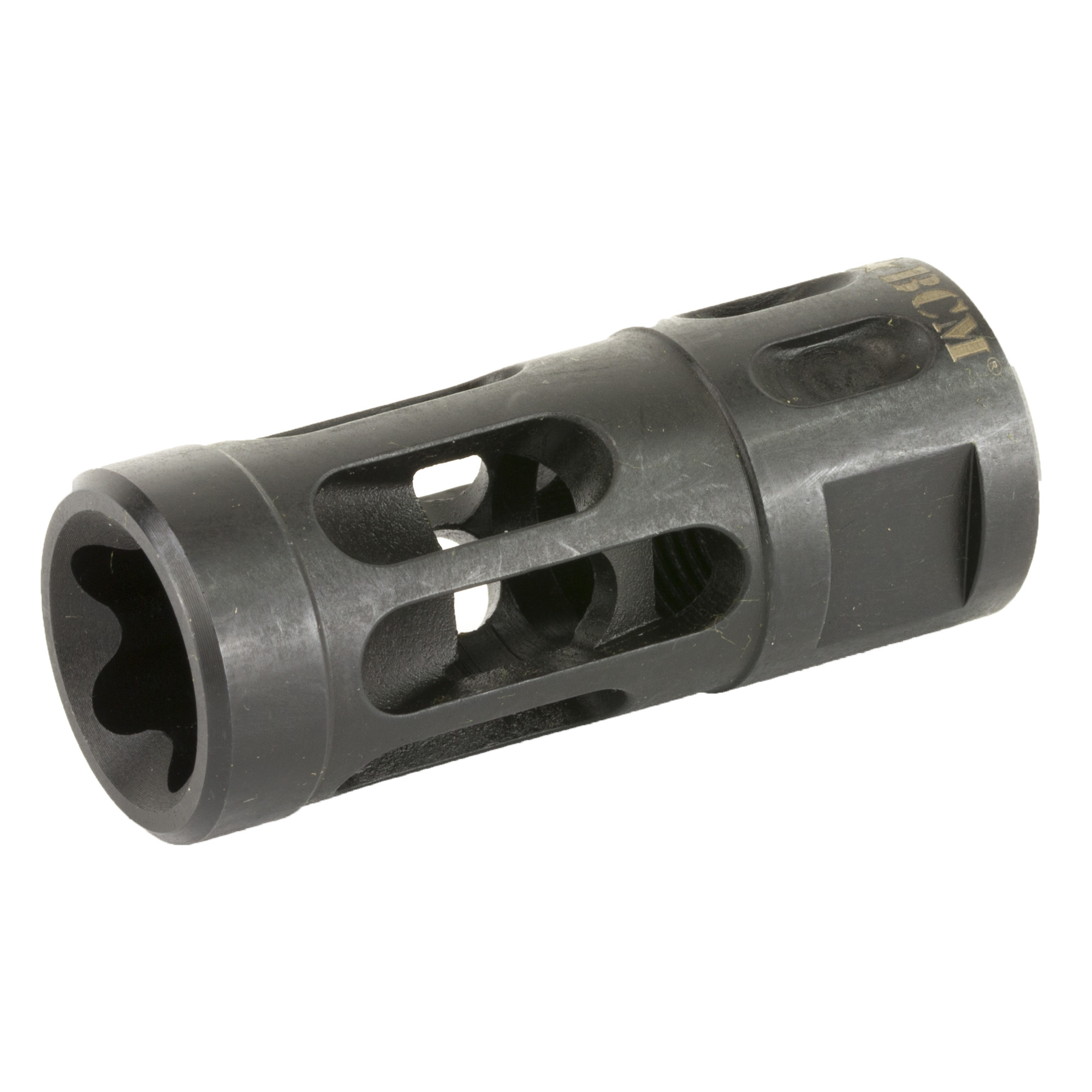 Dual action brake minimizes side pressure and designed to have much less noise associated with typical compensators. Makes it perfect for working in teams for CQB. It is a compensator that is built for the 21st Century Gunfighter!