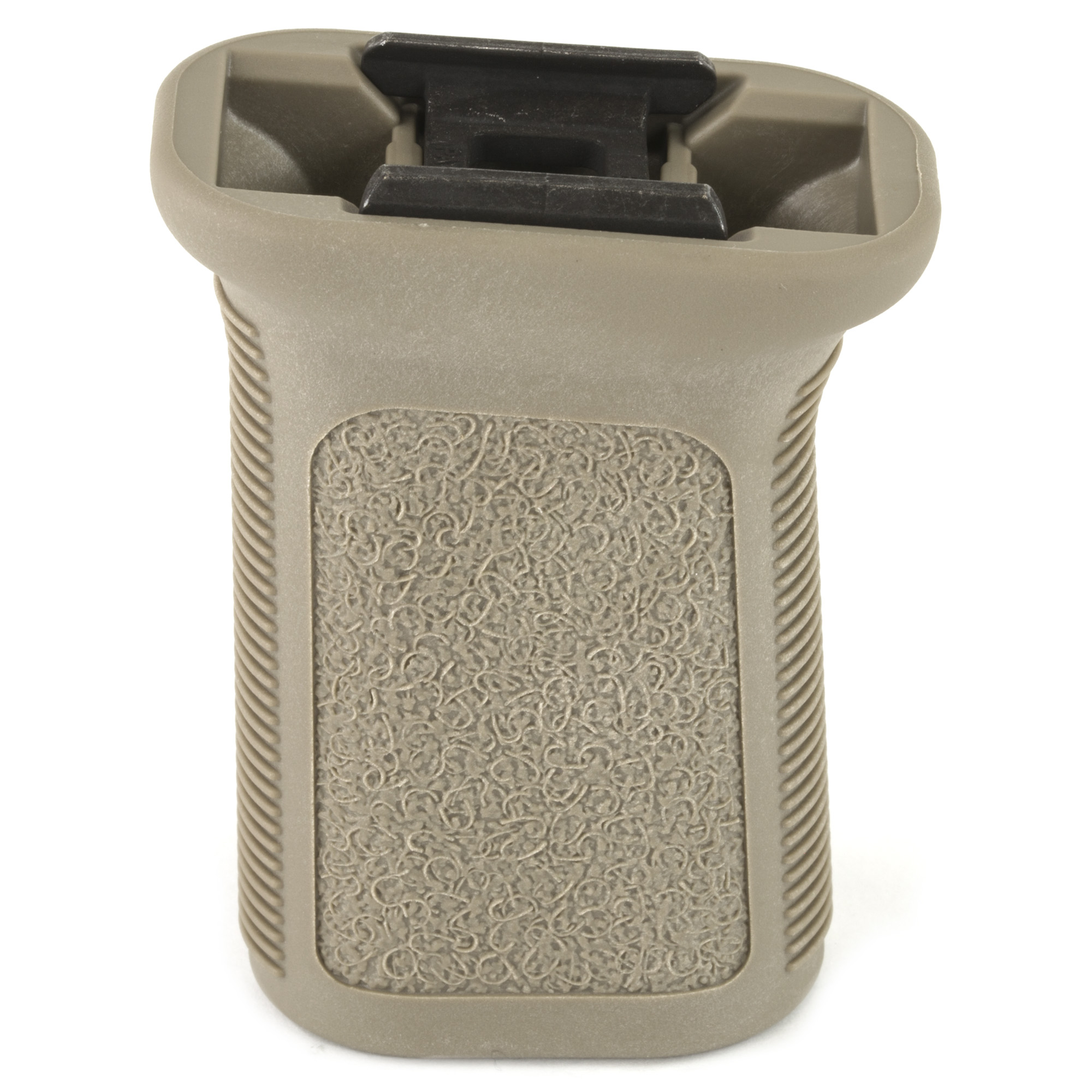 """Bravo Company's BCMGUNFIGHTER Vertical Grip Mod 3-Picatinny is the new Patent Pending BCM(R) Direct Mount Picatinny 1913 interface system. It was developed to be the most rigid"""" light-weight"""" and cost effective system available for Vertical Pistol Grips and Hand Stop type accessories. Most of the industry relies on a simple screw and backing nut for a mounting system. BCM(R) has developed a patent pending anchor system that not only secures to the mounting surface"""" but spreads the energy and force throughout the accessory. Conventional mounting systems can allow for an increased amount of shifting and flexing of the accessory. The BCM(R) direct mount interface system reduces those issues and offers a more secure lockup"""" eliminating play in the mounting surface. It has a low-profile length for increased mobility and a decreased snag factor. The forward angle increases the rigidity of the forearm"""" while providing a more natural wrist angle. It can be mounted in reverse angle to increase control when grabbing handguard and grip and the flat sides with aggressive texture give better yaw control to the shooter during firing and non-firing manipulations."""