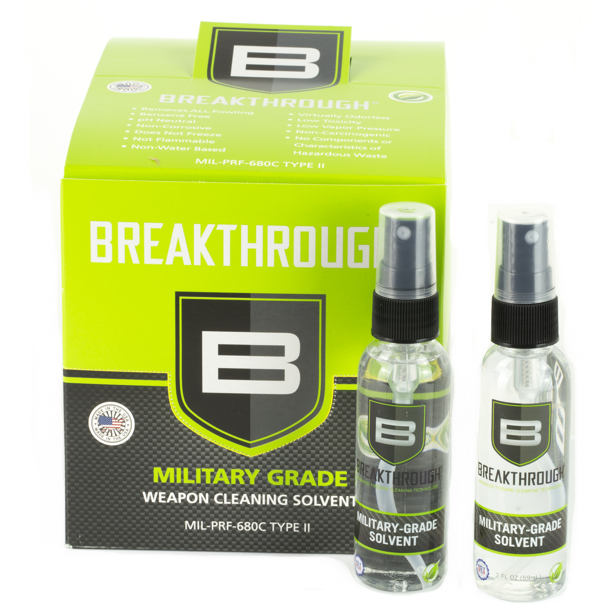 """Breakthrough Clean is ushering in a new era of technology where cleaning your firearms is now faster and safer than ever. Their cleaning products eliminate more contaminants than most leading gun cleaners"""" providing optimal firearm performance"""" safety"""" and usability."""
