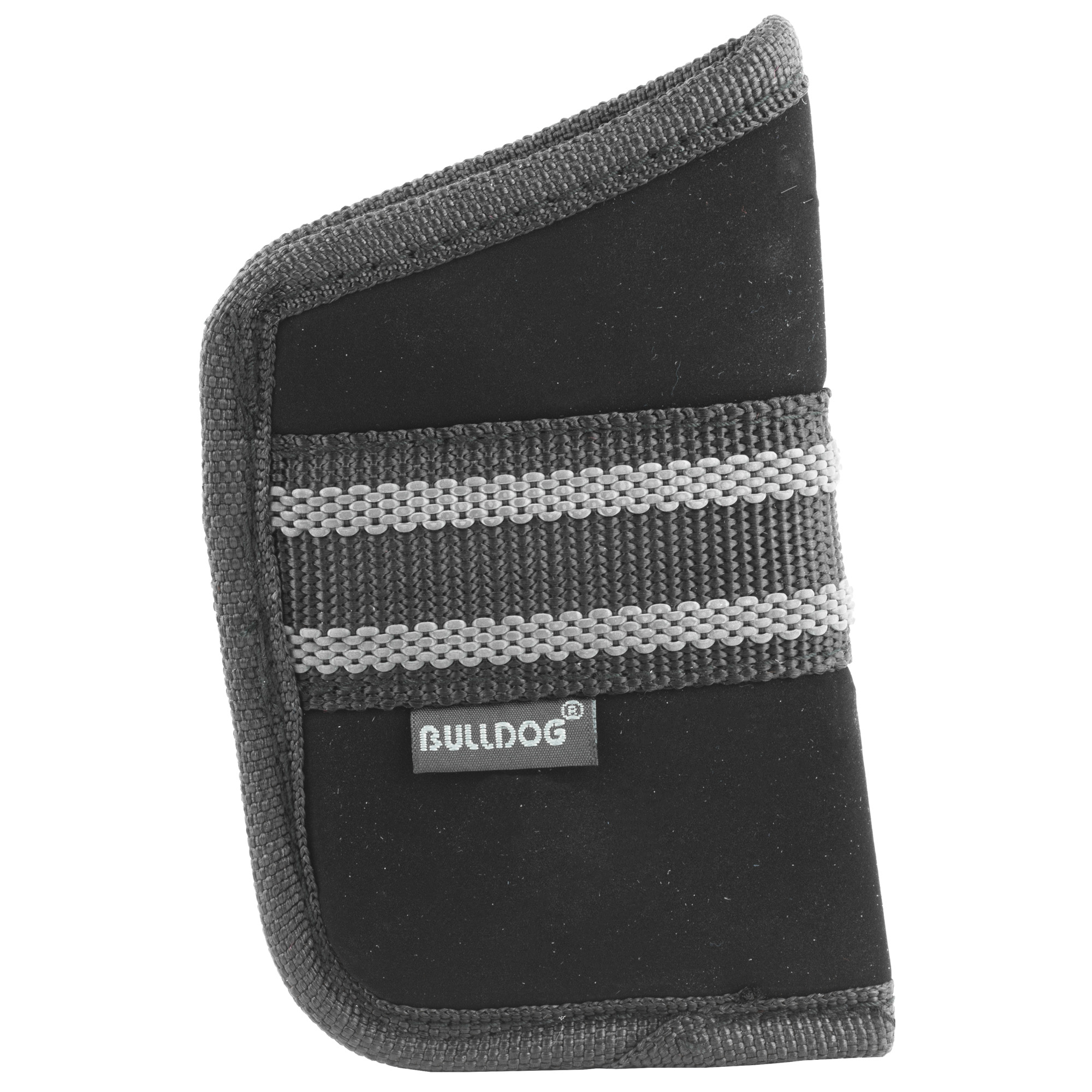 Fused Padding Helps Conceal The Pistol Outline While Protecting The User's Leg From The Sharp Edges Of The Pistol. Non-Slip Band Helps Keep The Holster In Place In The Pocket When Pistol Is Drawn. Size medium.