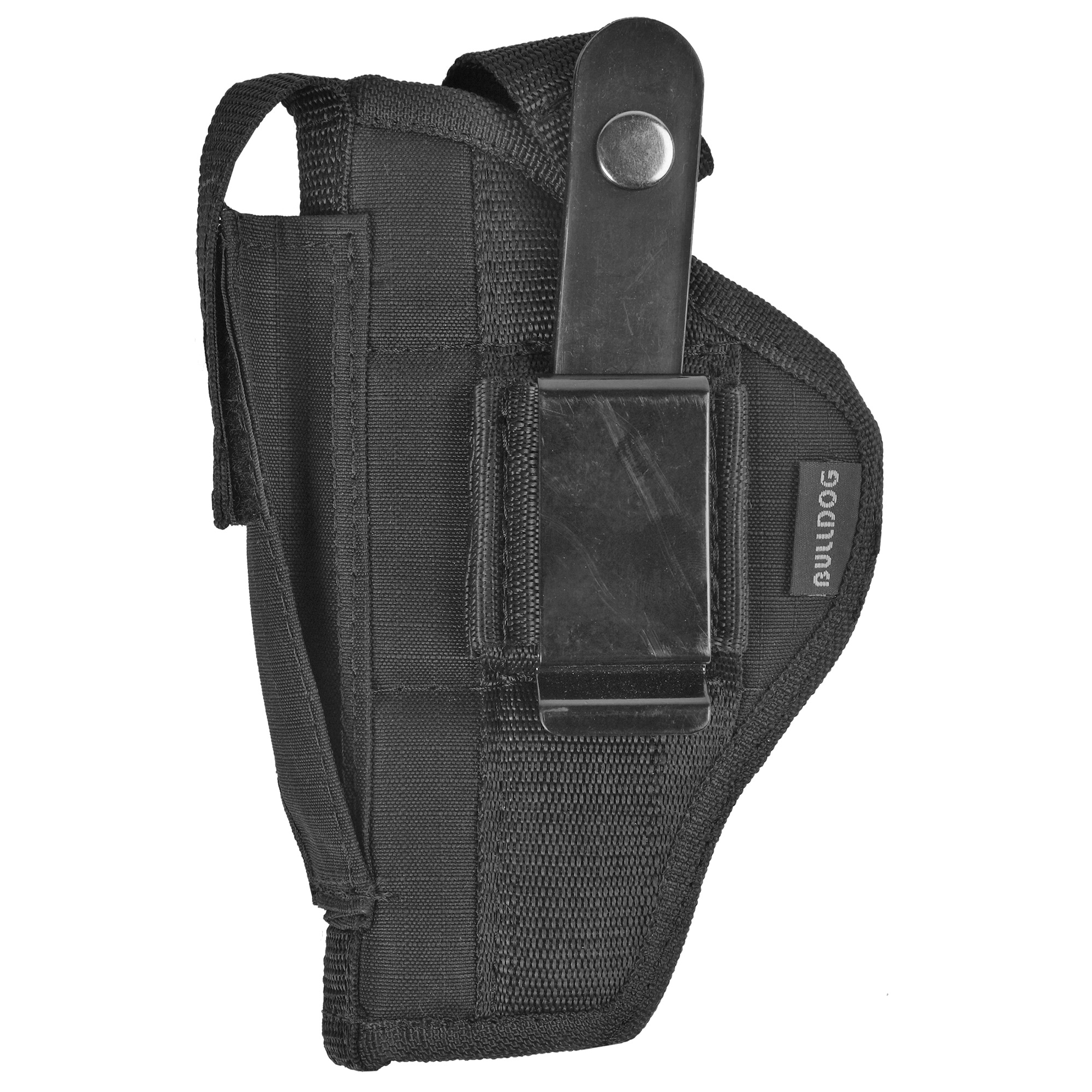 """The Extreme Pistol Holster with its durable nylon water resistant outer shell and top grade fused padding provides the ultimate fit"""" comfort and protection for you and your pistol."""