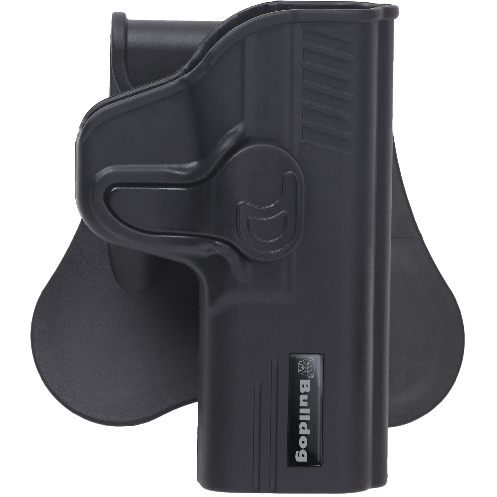 """The Rapid Release Holster with Paddle is made of durable"""" high-tech polymer materials with gun specific design and is fully adjustable to multiple draw positions. The specially designed locking mechanism provides safe and secure Level II retention with one finger quick draw release."""