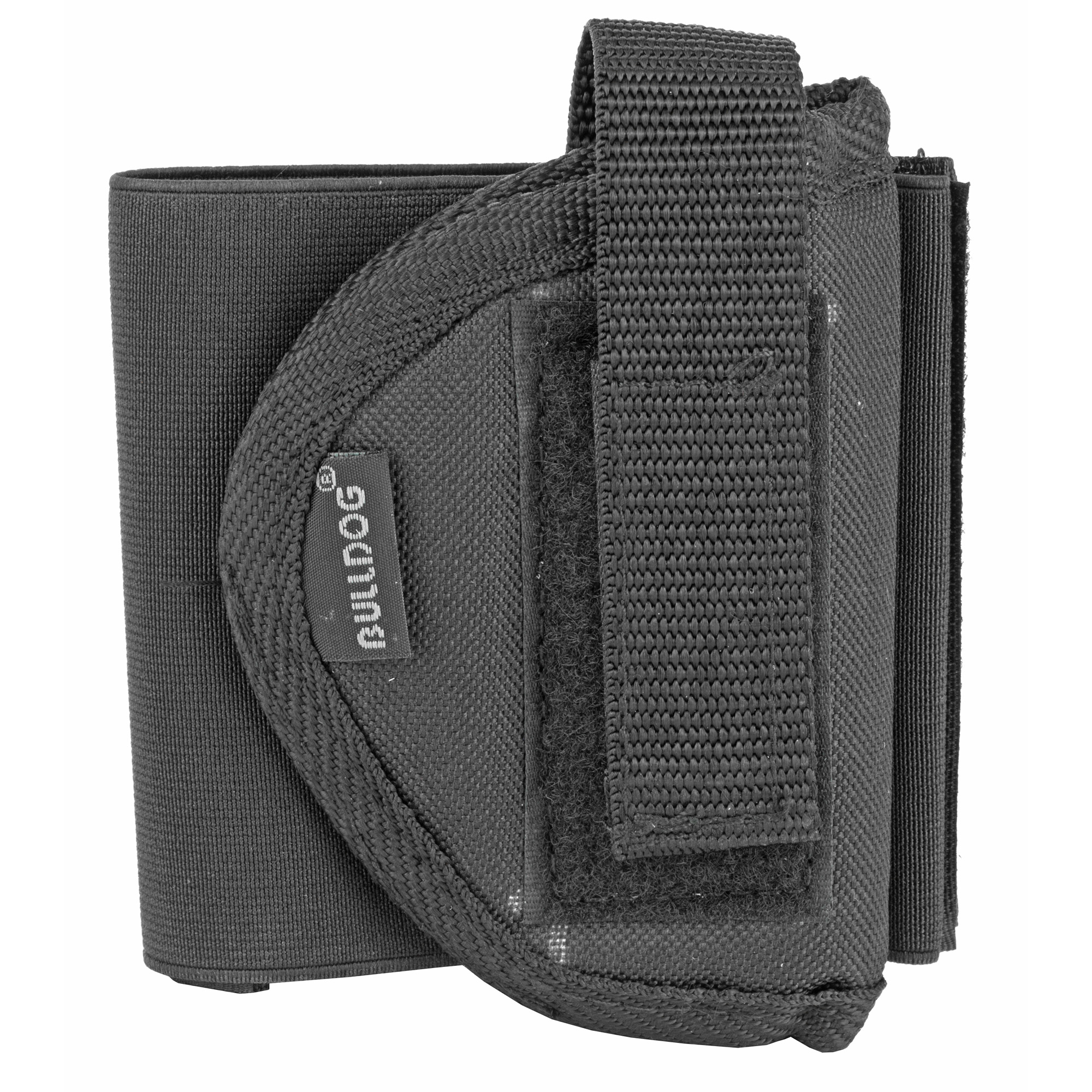 The Bulldog Pro Ankle Holster (right handed) has the most comfortable fit in it's class. It features an elastic band with Velcro closure and an adjustable thumb break.