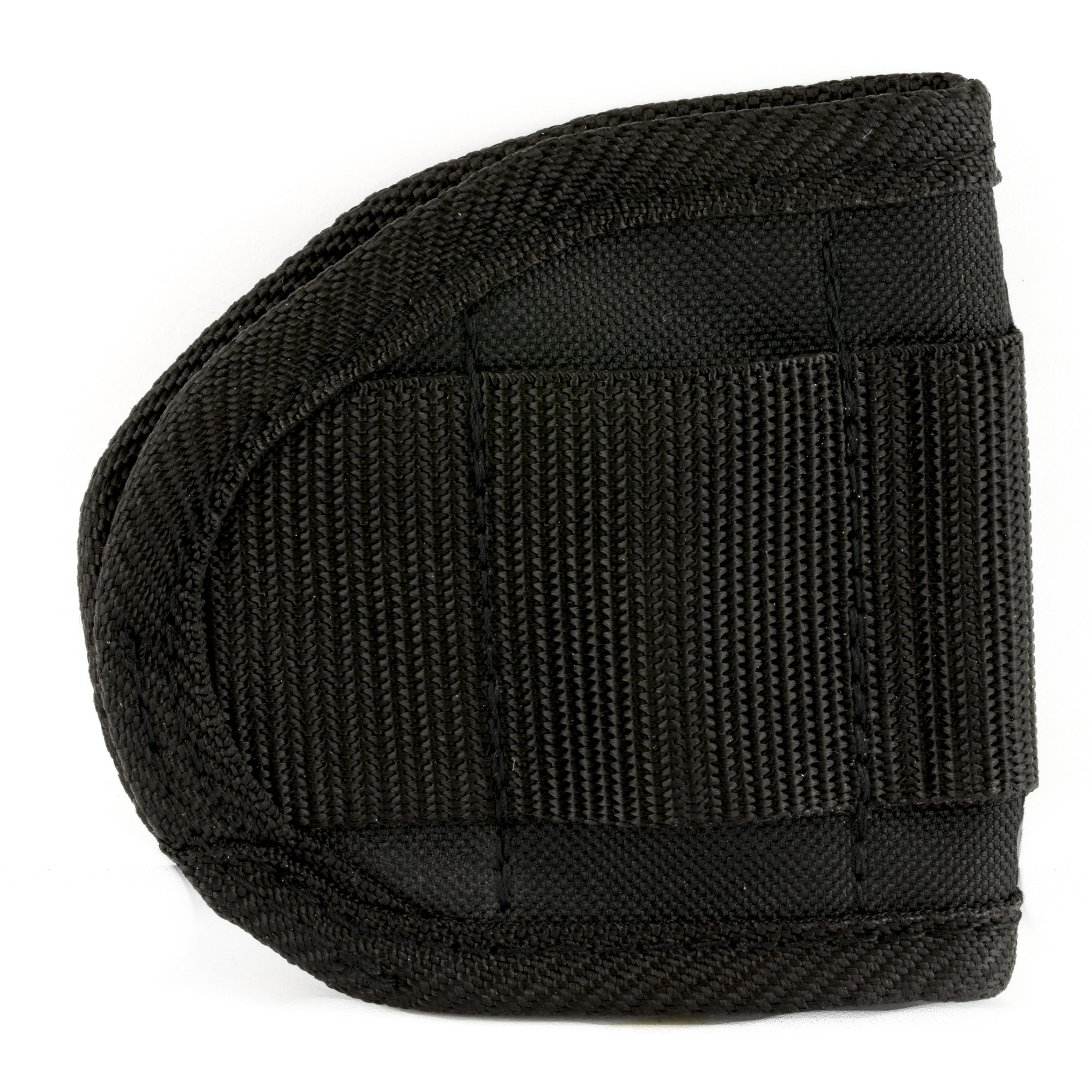 """If you own multiple handguns that regularly rotate in and out of your carry regimen"""" you know how difficult it can be to find holsters that are both practical and comfortable. These ambidextrous holsters from Bulldog Cases fit a wide variety of medium frame automatic handguns"""" and easily slide inside the waistband for comfortable carry. Made of ballistic nylon"""" black."""