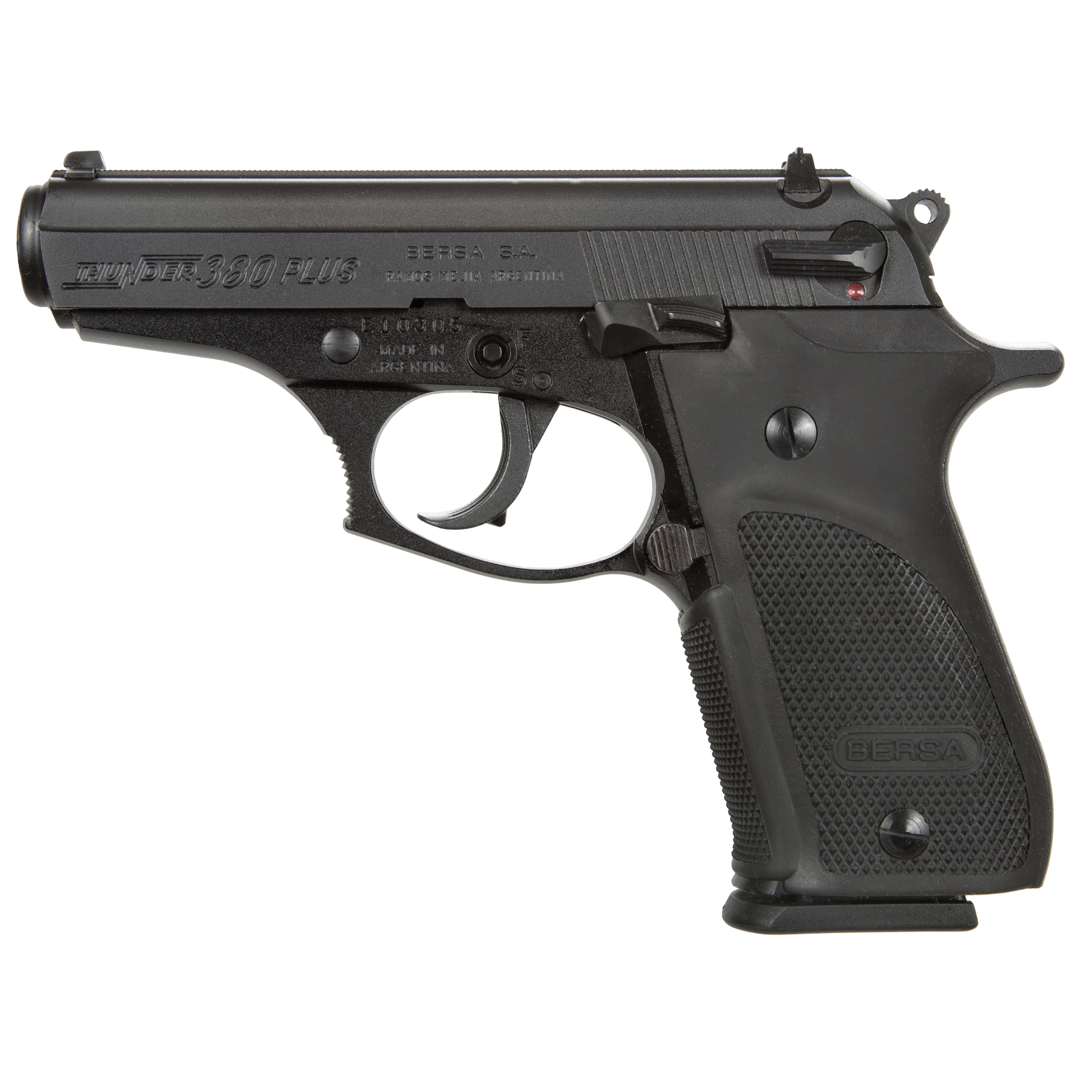 "The Bersa Thunder Series has been designed to deliver pinpoint accuracy and rugged reliability under the toughest conditions. The Bersa Thunder offers numerous valued features - accuracy"" reliability and versatility in a lightweight"" compact design."
