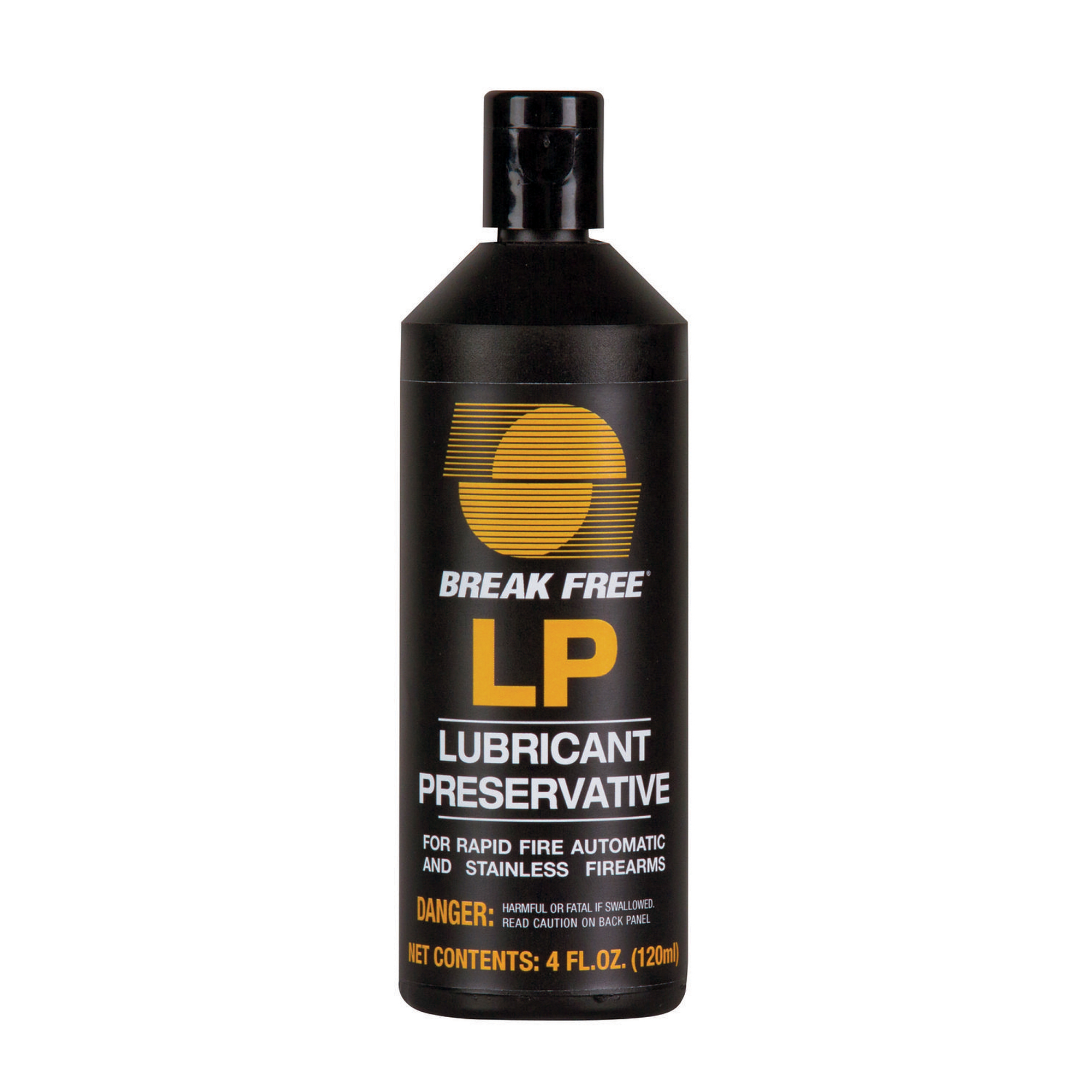 """Designed for use under long and sustained fire"""" Break Free LP Lubricant/Preservative is ideal for law enforcement"""" target shooters and anyone using rapid fire automatic handguns and rifles. Originally developed for fully automatic weapons used by the U.S. military"""" this proprietary formula ensures consistent cyclic rates are maintained and gun actions operate smoothly"""" even under adverse conditions and extended firing periods. Break Free LP doesn't dry out"""" harden"""" solidify or attract metal fines and other contaminants."""
