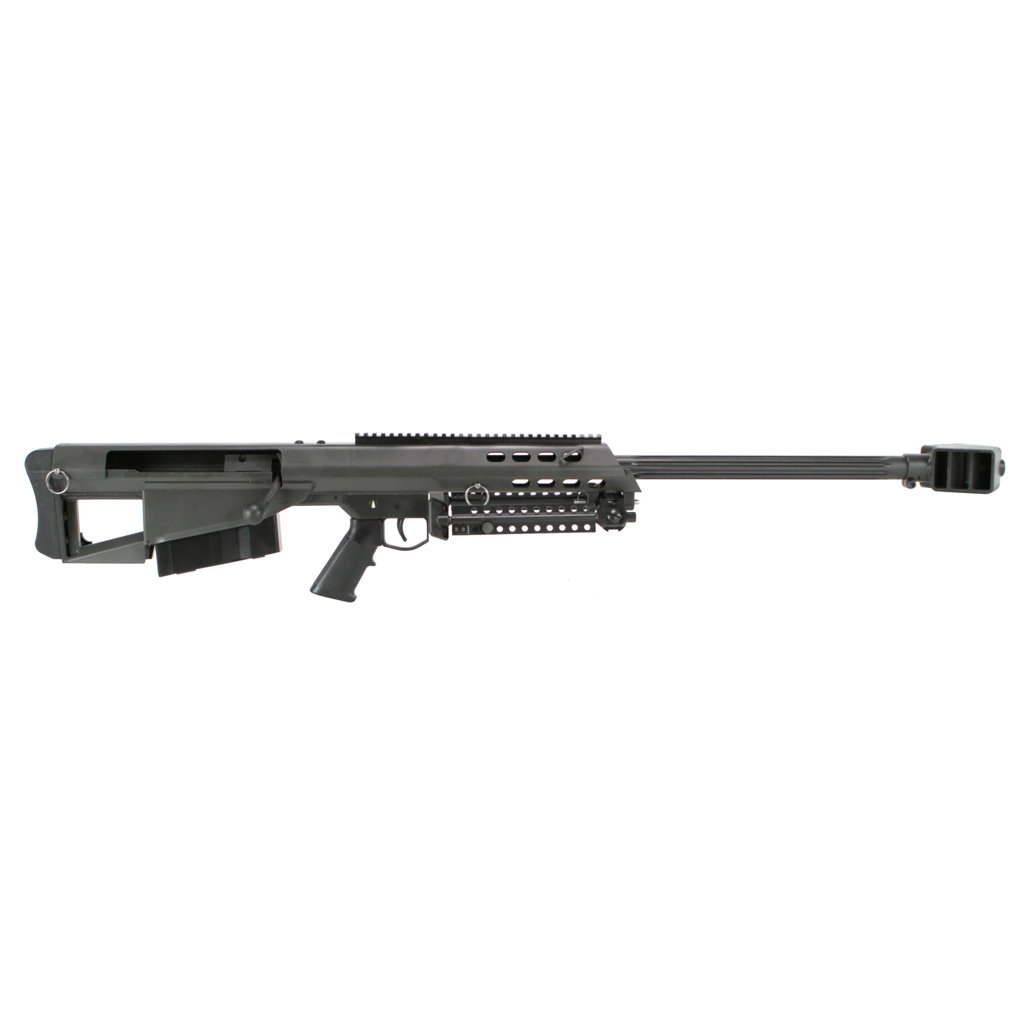 "The bolt-action Model 95 represents the ideal balance of size and performance. Its innovative bullpup design minimizes overall length without sacrificing ballistic performance or accuracy of the proven 50 BMG cartridge. Fed from a 5-round detachable box magazine"" the combat-proven Model 95 is the pinnacle of simplicity for end users who demand precision"" reliability"" and power."