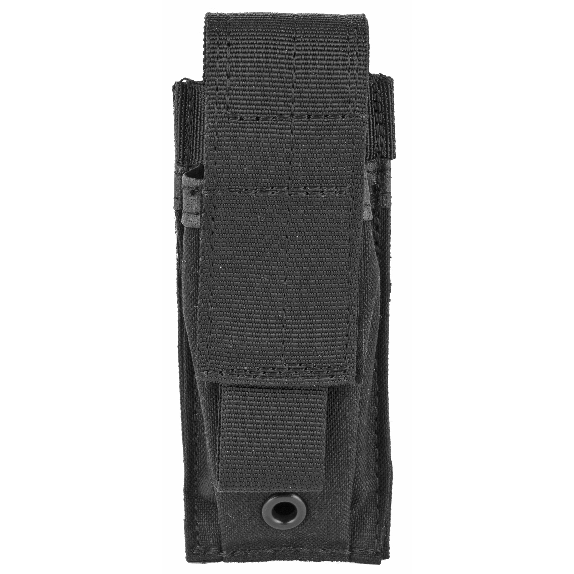 Mounts to any S.T.R.I.K.E.(R) or PALS/MOLLE platform by weaving the integral straps on the back of the pouch in and out of the platform webbing. Constructed of 500 denier nylon.