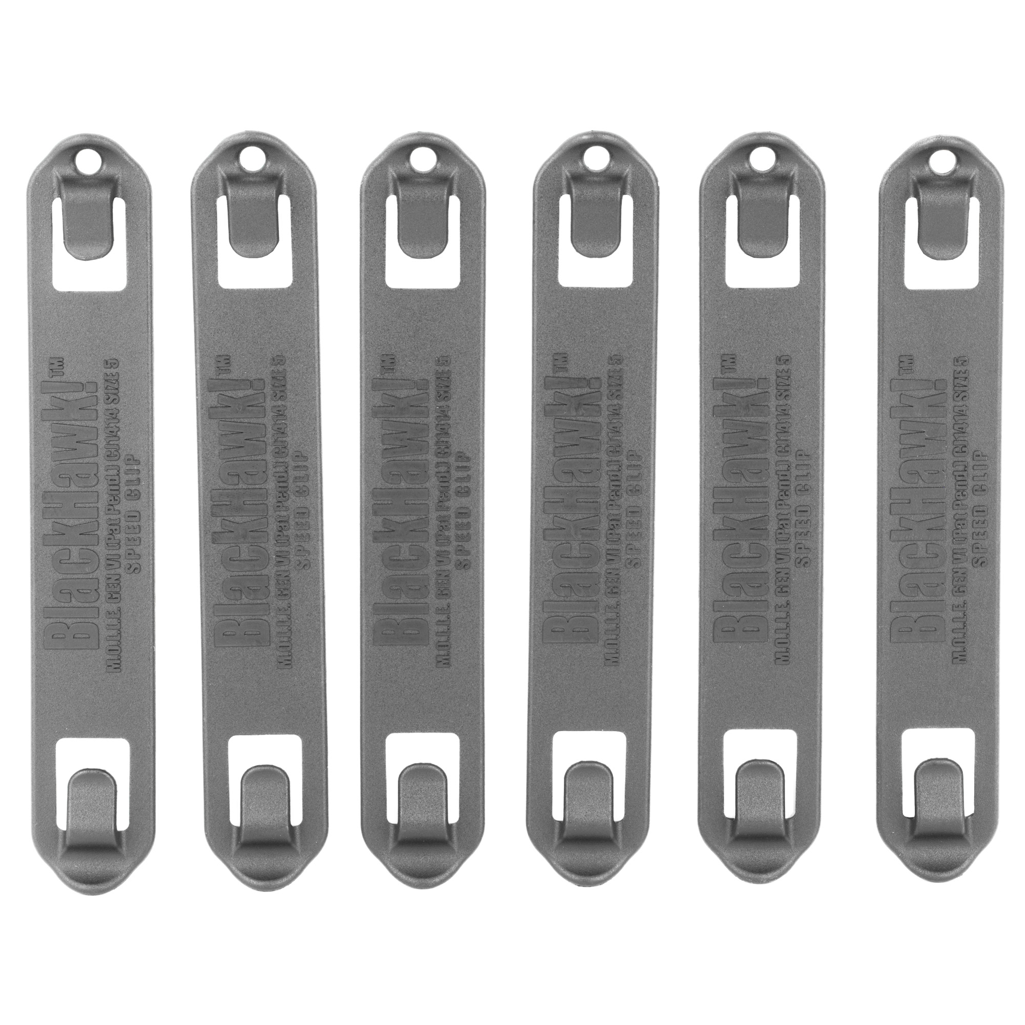 """These clips are designed to mount Speed Clip 3800 Series pouches to any S.T.R.I.K.E. or PALS/MOLLE platform"""" but can also be used with MOLLE 3700 Series or USA MOLLE 3900 Series pouches. Quickly and efficiently mount and disconnect pouches and other modular gear to any S.T.R.I.K.E. or PALS/MOLLE platform."""